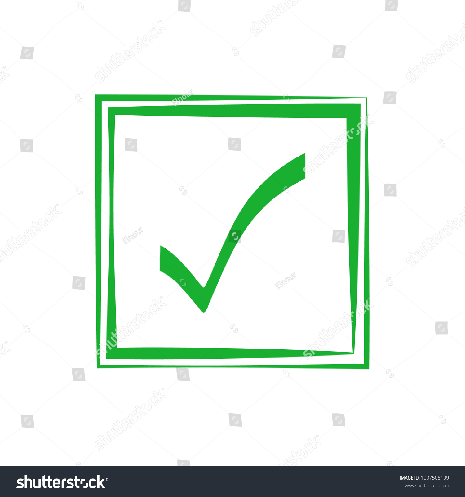 Green check mark icon box tick stock vector 1007505109 shutterstock green check mark icon in a box tick symbol in green color vector illustration biocorpaavc Image collections