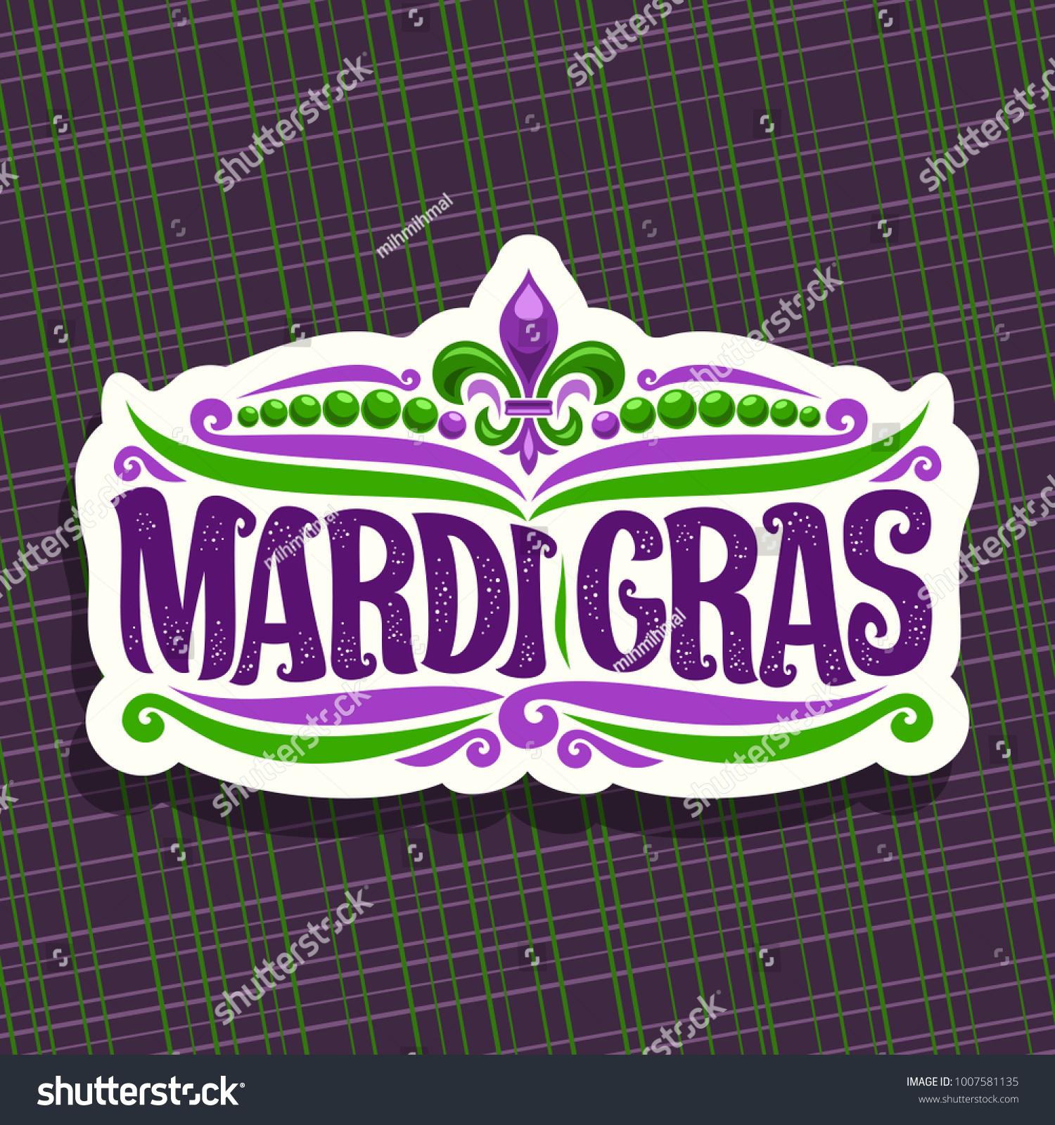 Vector Logo Mardi Gras Carnival Cut Stock Vector 1007581135