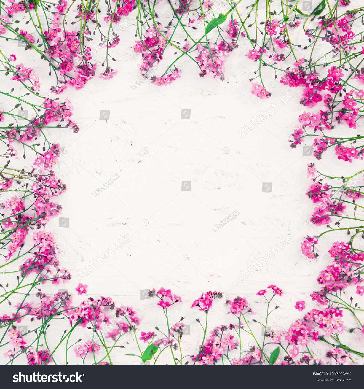 Beautiful Rustic Floral Background Copy Space Stock Photo Royalty Free 1007598883