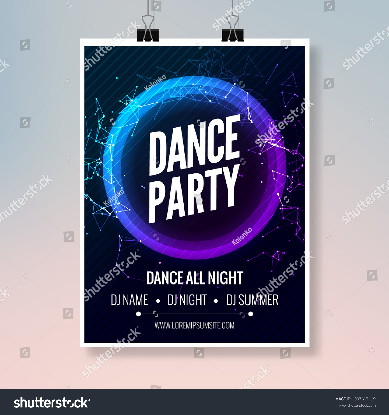 modern club music party template dance party flyer brochure night