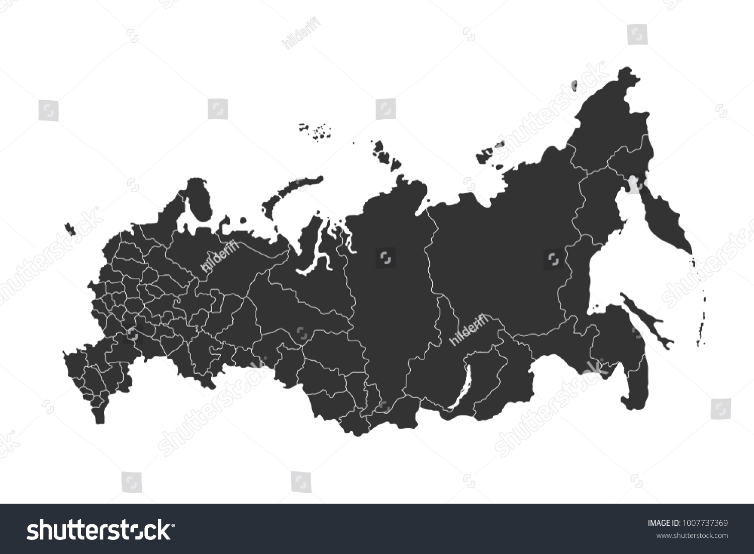 Russia Map Regions Vector Flat Illustration Stock Vector ... on flat united states map, flat eurasia map, flat great britain map, flat country map, flat europe map, flat us map, flat africa map, flat world maps,