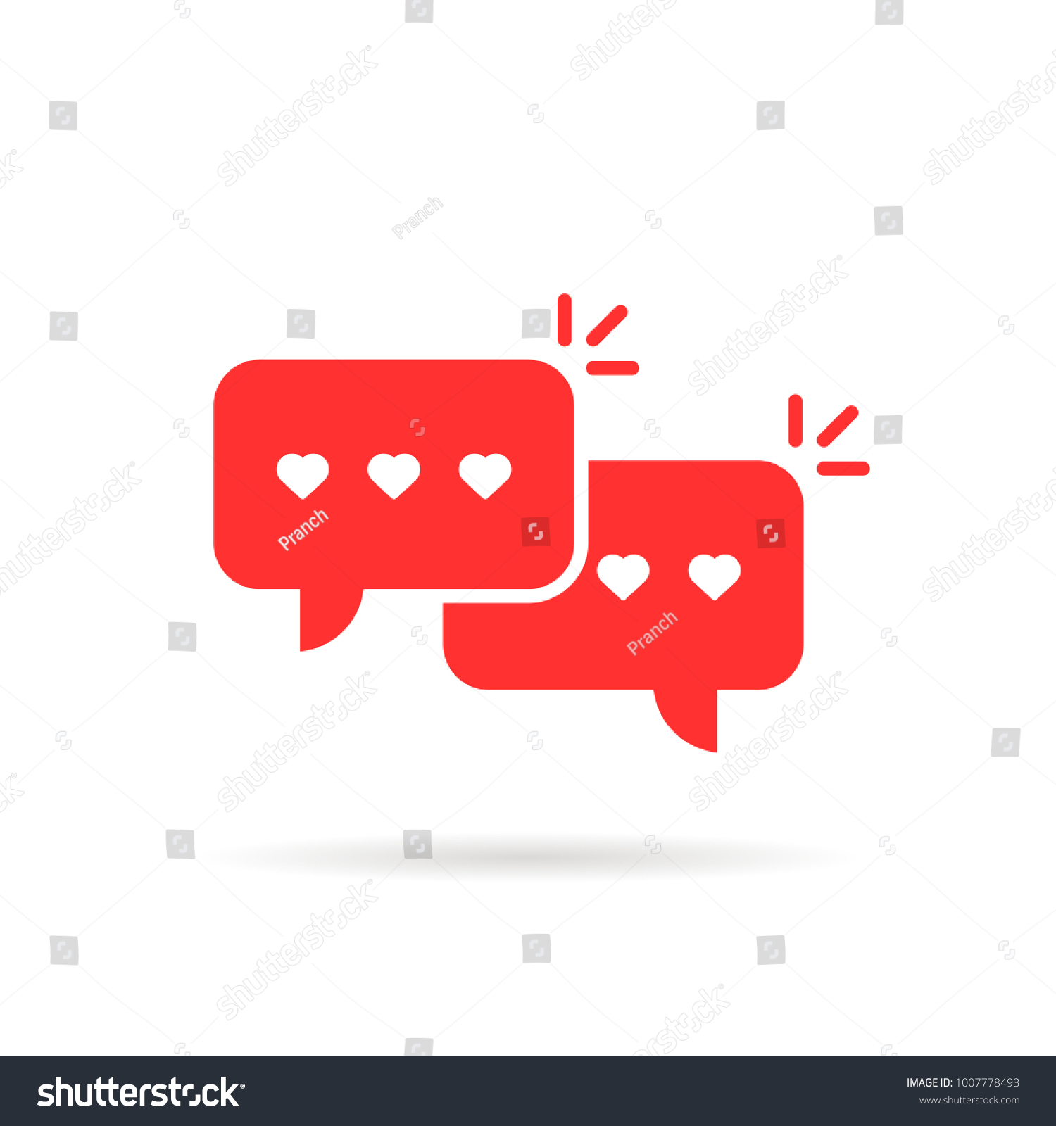 Red love messages speech bubble concept stock vector 1007778493 red love messages with speech bubble concept of two simple dialog windows for texting or buycottarizona