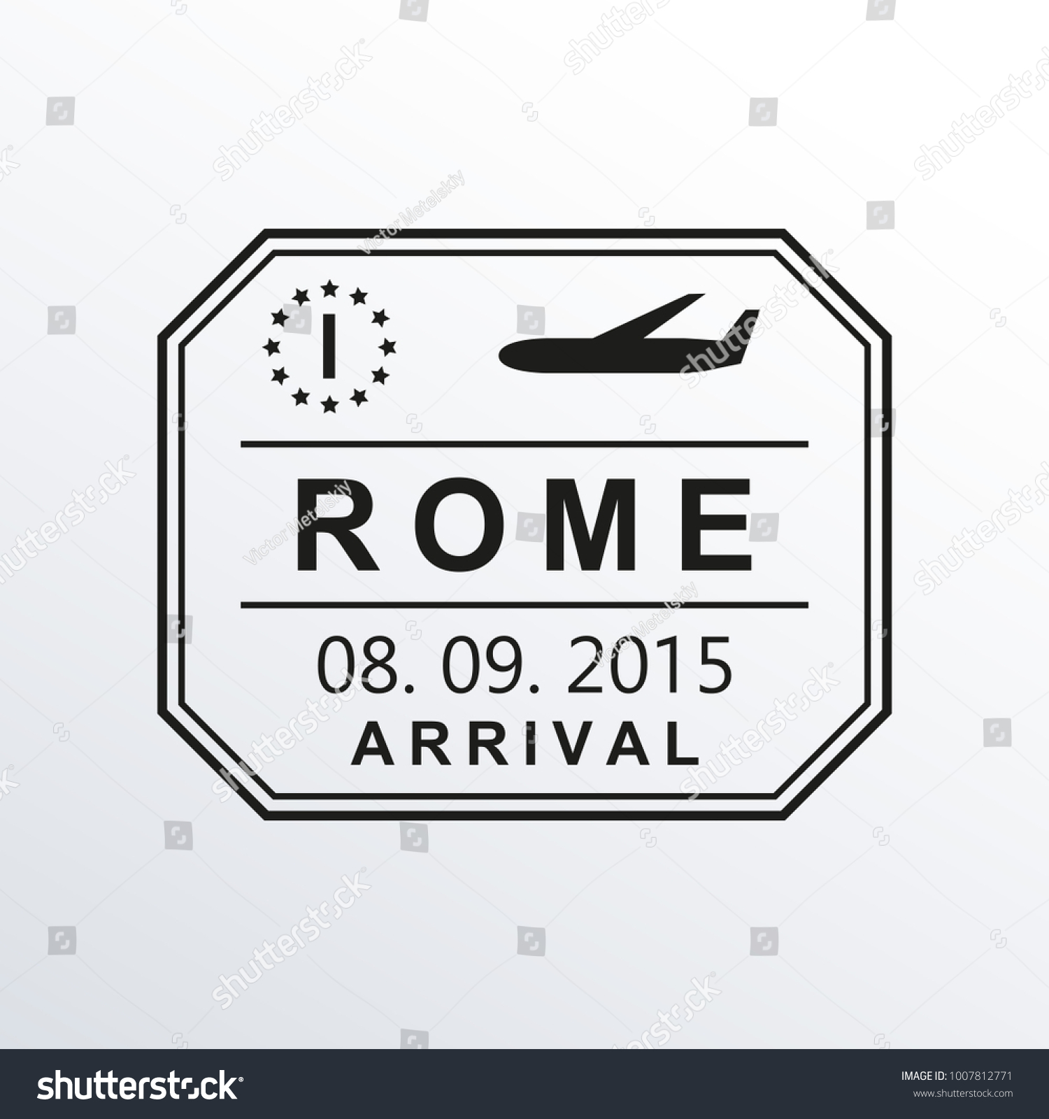 Rome passport stamp italy airport visa stock vector 1007812771 italy airport visa stamp or immigration sign custom control cachet biocorpaavc Choice Image