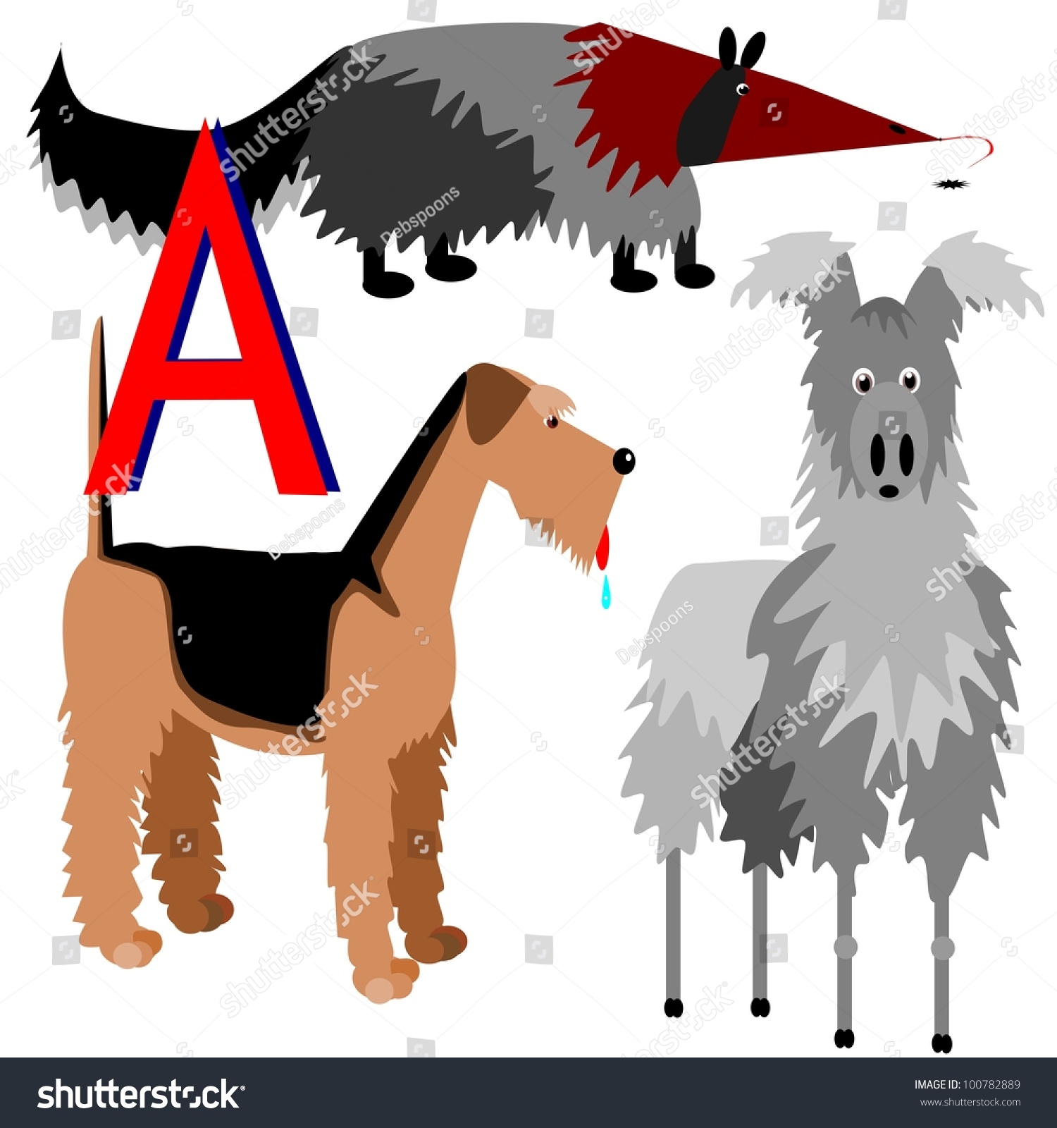animals that start with letter a anteater airedale alpaca illustration animals that stock 32351
