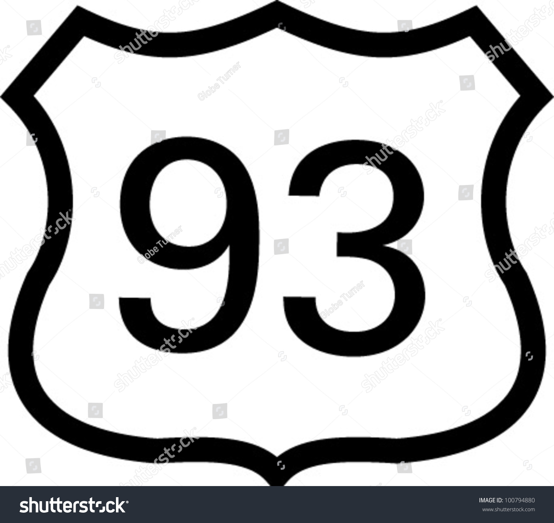 us 93 highway sign stock vector hd royalty free 100794880 rh shutterstock com highway sign vector art california highway sign vector
