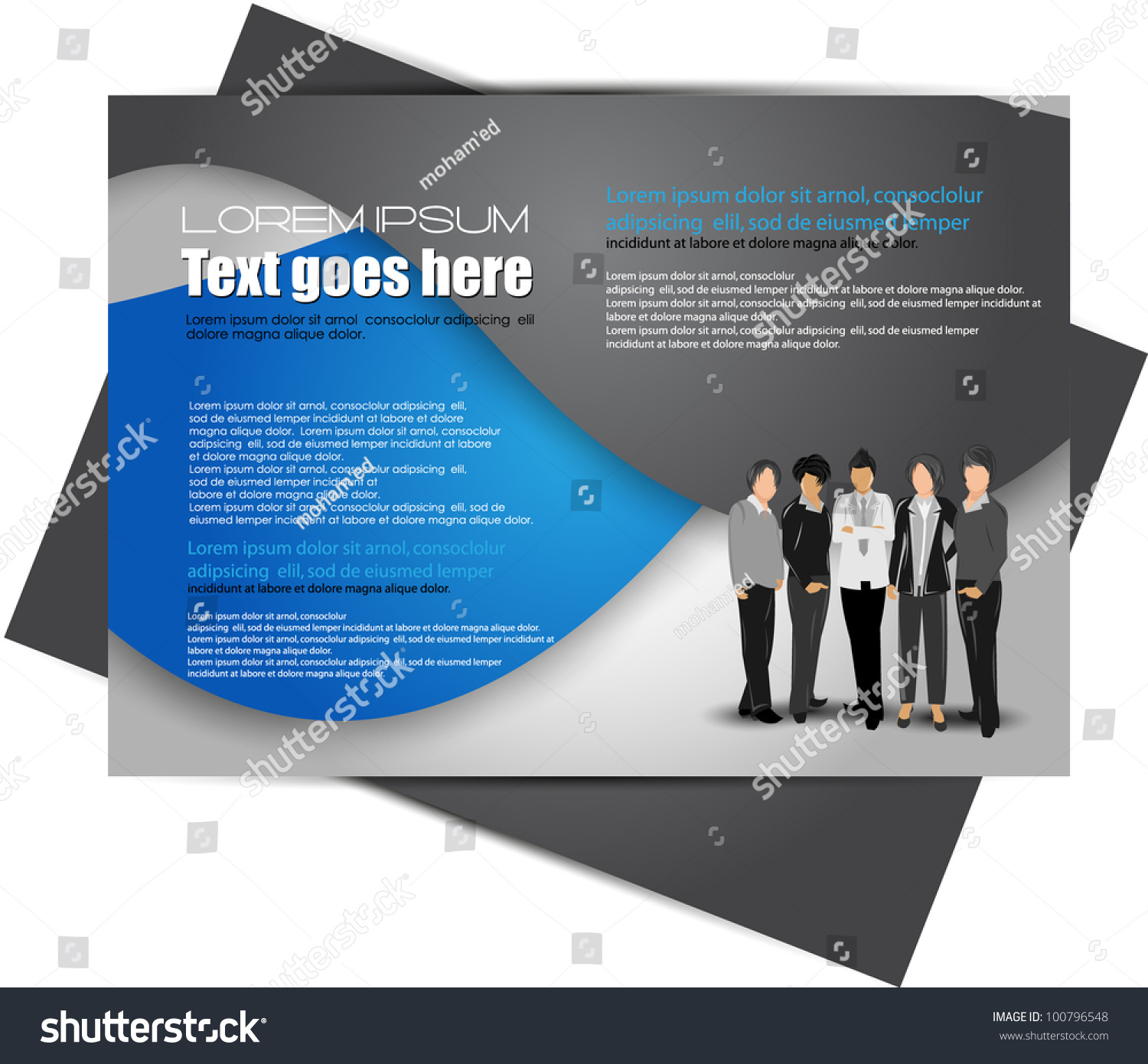 modern brochure design stock vector 100796548 shutterstock. Black Bedroom Furniture Sets. Home Design Ideas