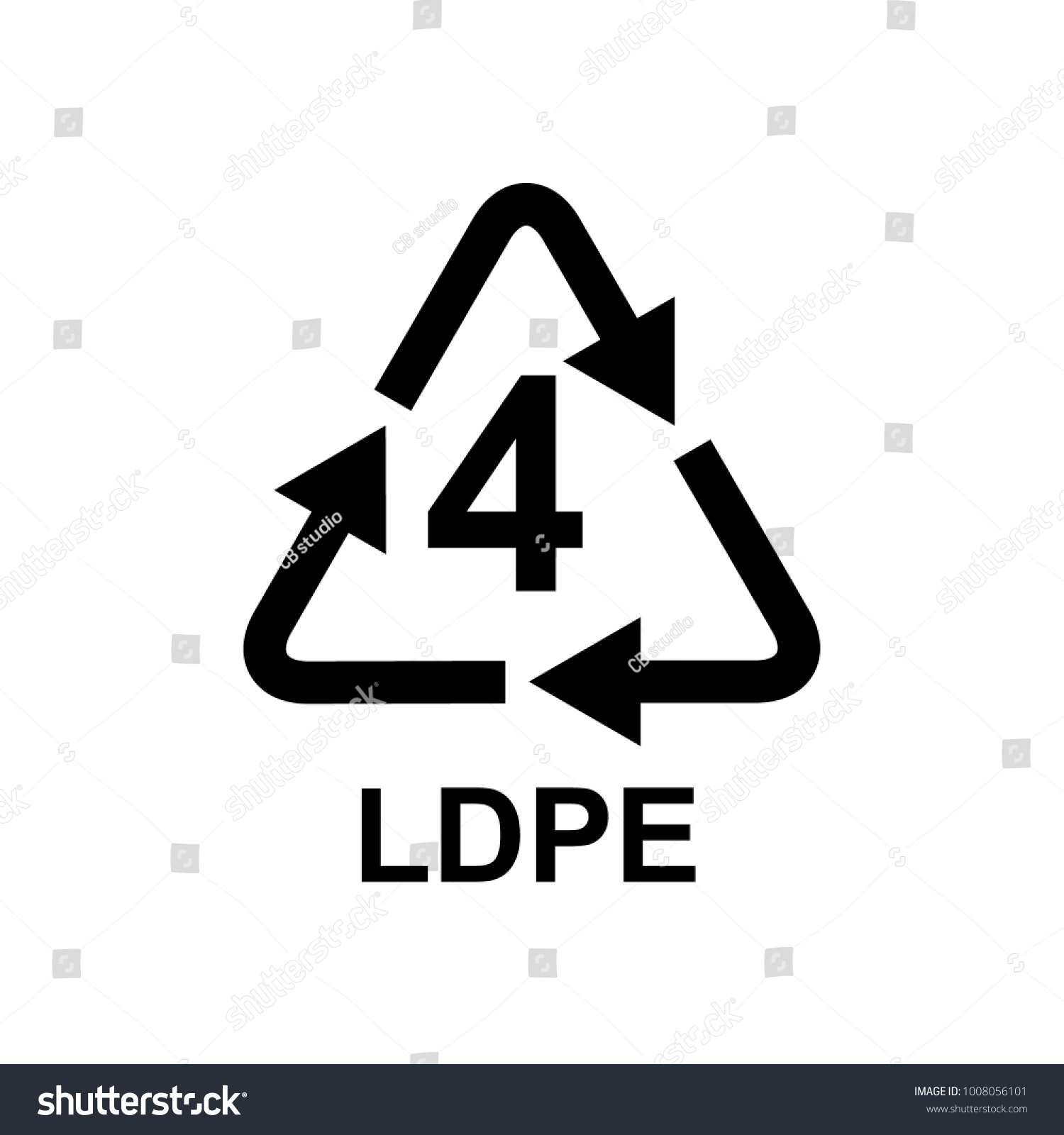 Plastic recycling symbol 4 ldpe stock vector 1008056101 shutterstock plastic recycling symbol 4 ldpe biocorpaavc Choice Image