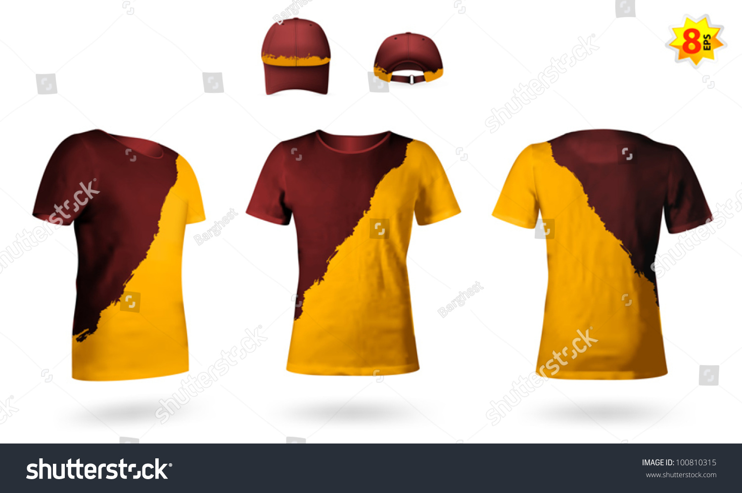 Design template of two color t shirts stock vector for Two color shirt design