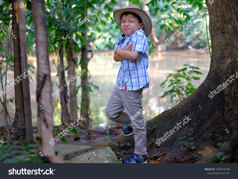 a85d44d4f6e20 Curt Asian Boy Wearing Shirt Cowboy Stock Photo (Edit Now ...