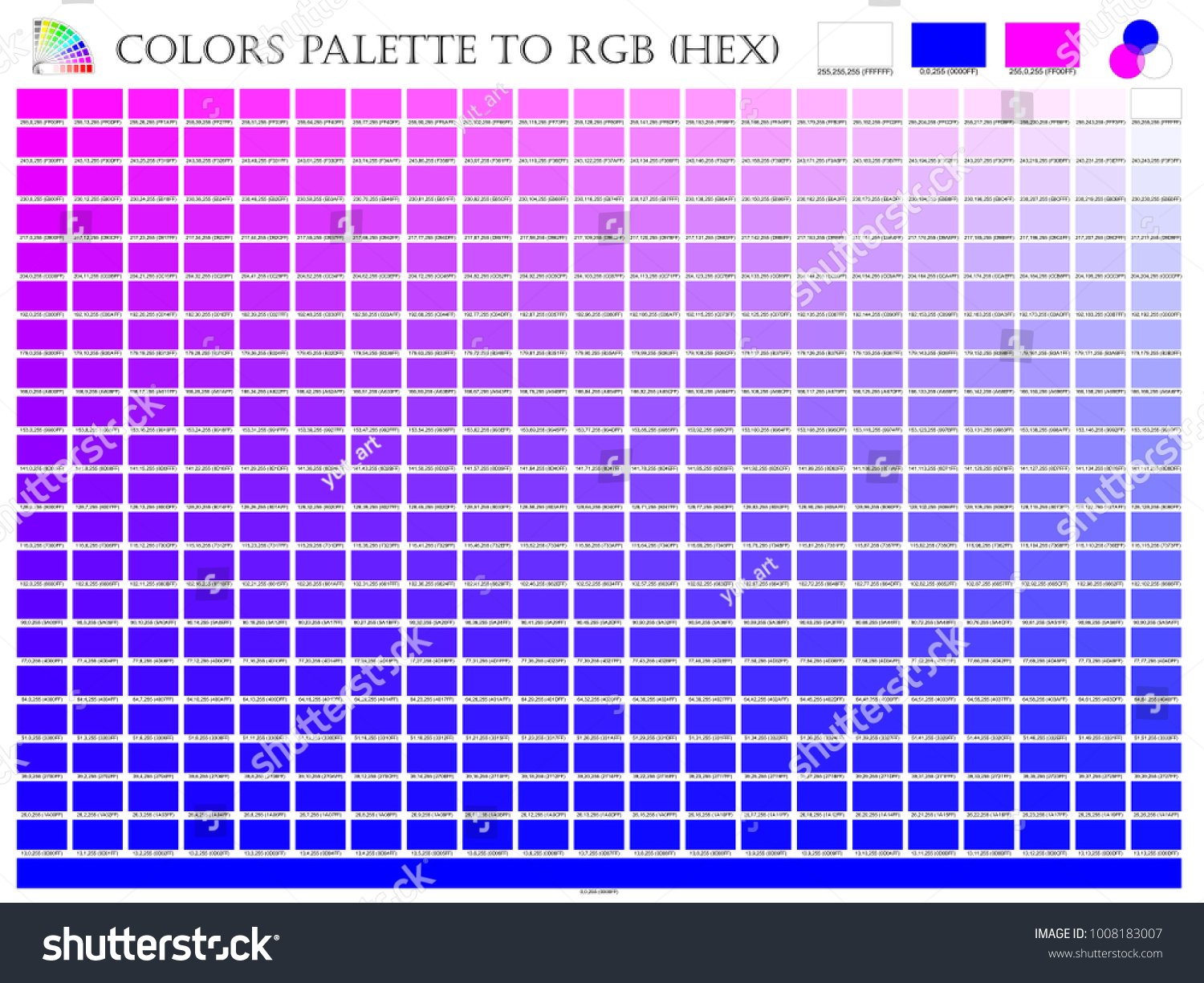 Color palette mixer 3 color pink stock vector 1008183007 shutterstock color palette mixer 3 color pink white and blue r g b mode in composition geenschuldenfo Image collections