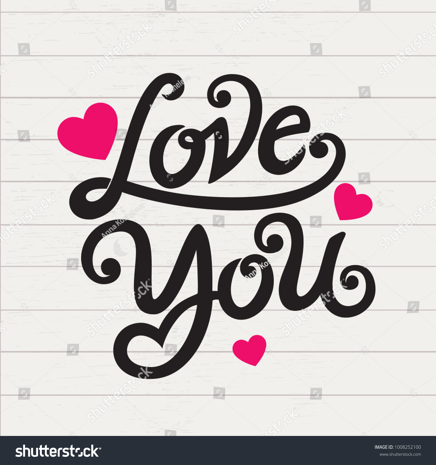 Love You Typography Vector Design Greeting Stock Photo Photo