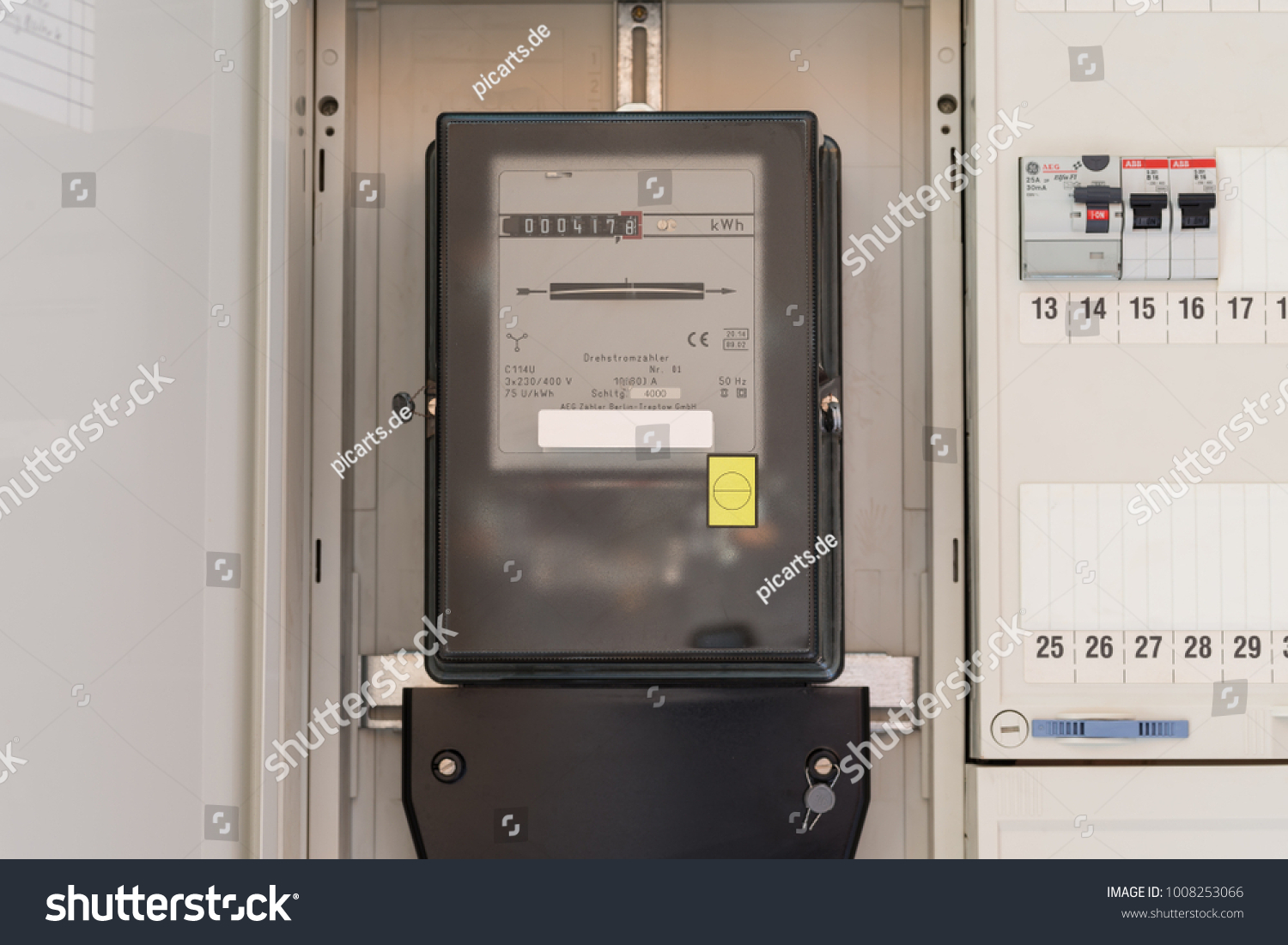 Electric Meter Fuse Box Stock Photo Edit Now 1008253066 Shutterstock Electrical Boxes In A