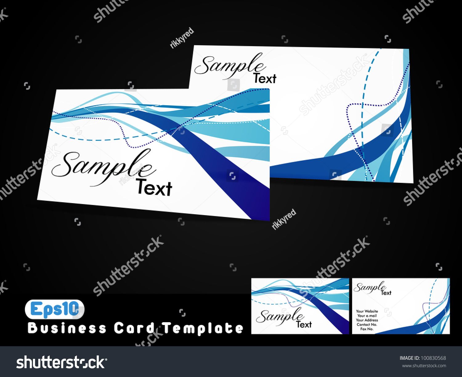 Business Card Template Eps 10 Stock Vector Royalty Free 100830568