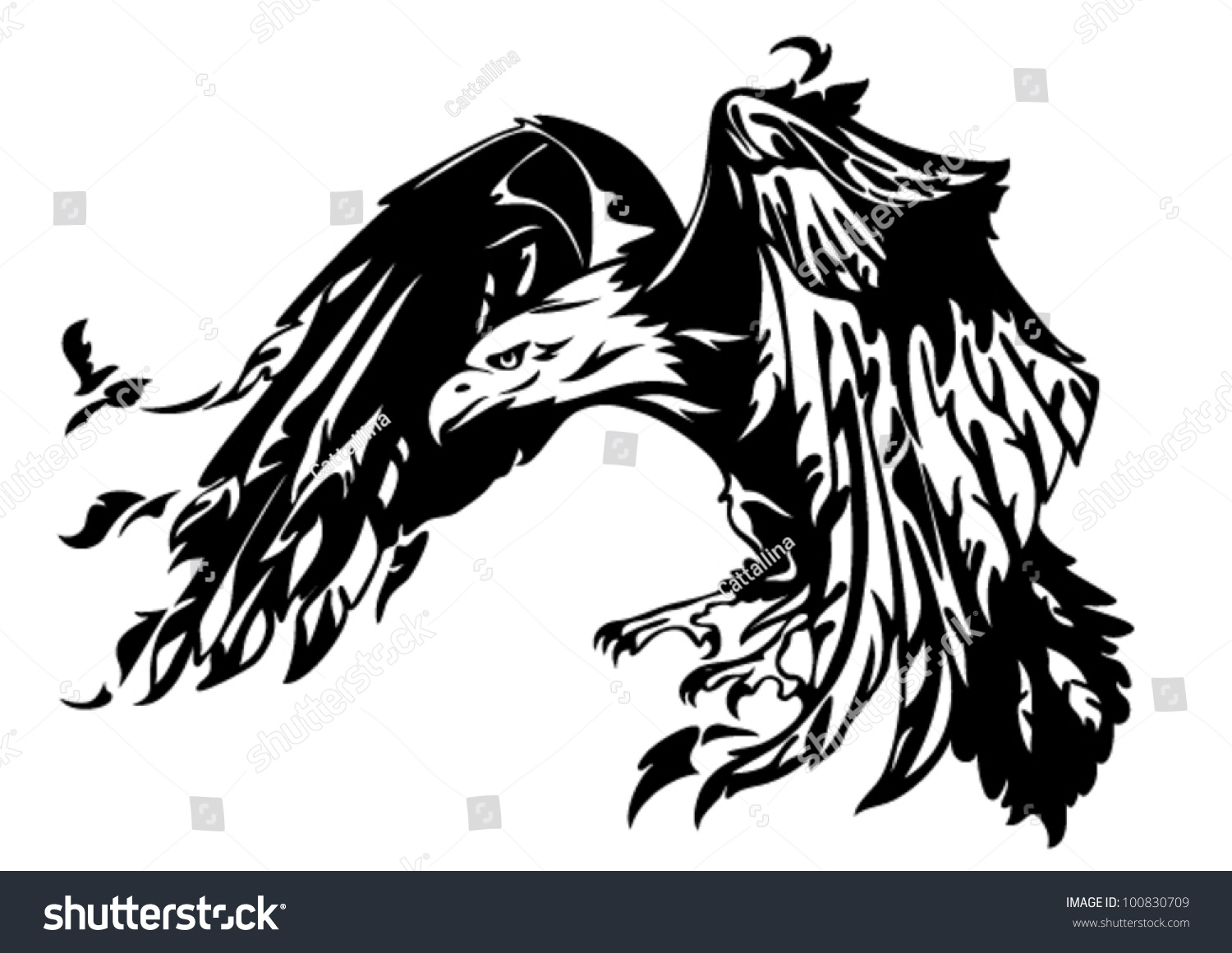 Eagle Black And White Vector