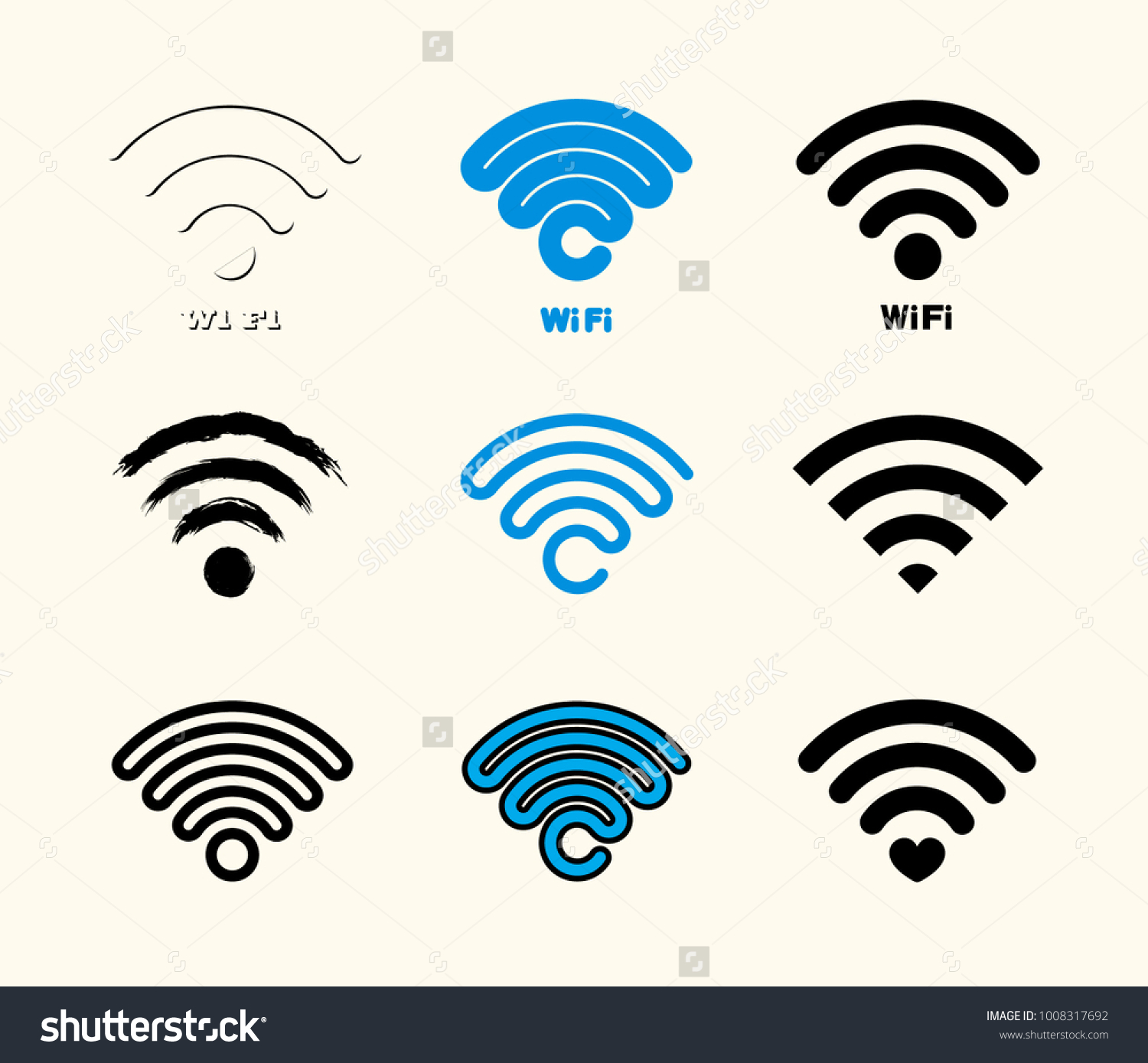 Wifi Icon Connect Symbol Vector Illustration Stock Vector Royalty