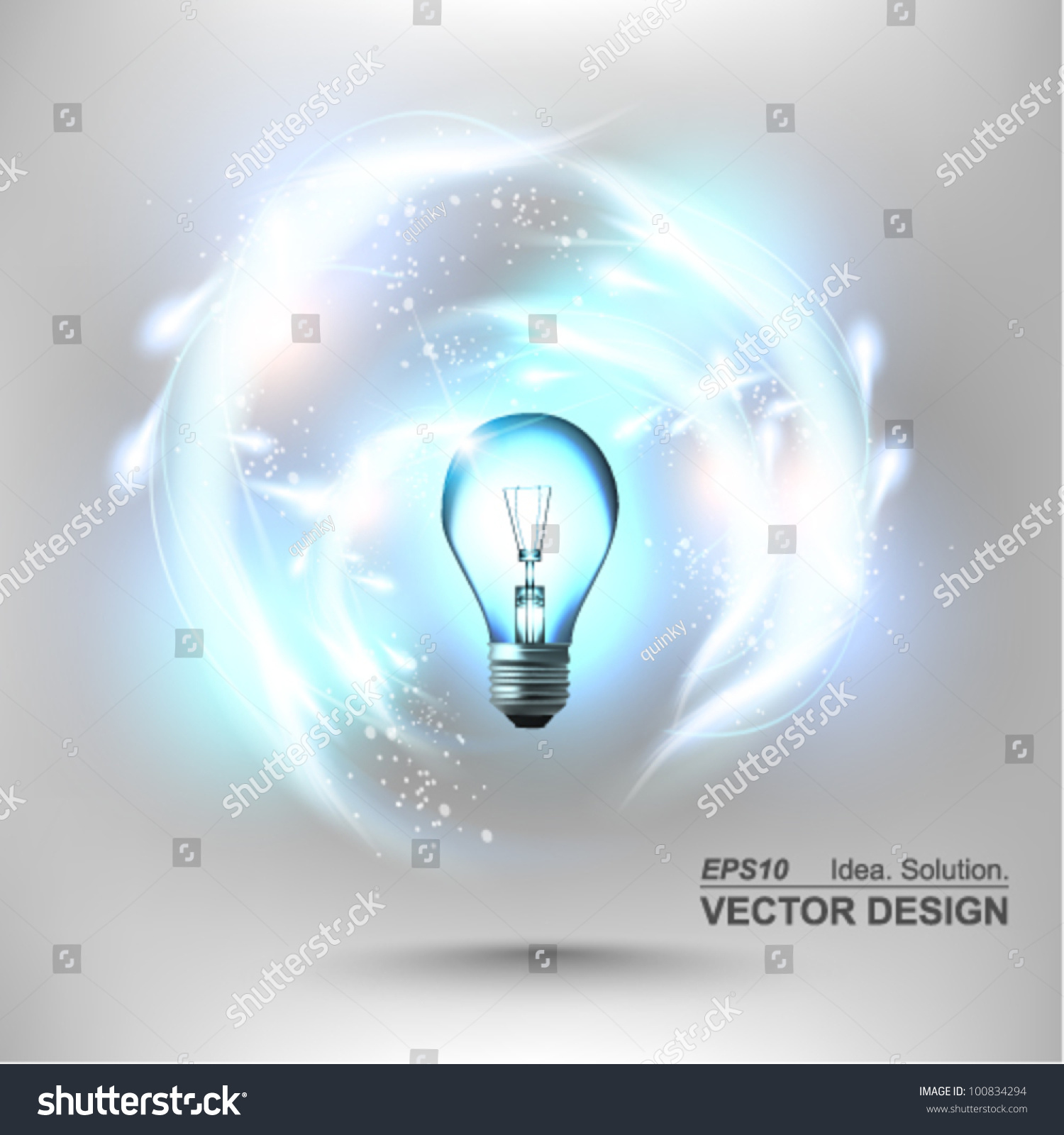 stylish conceptual digital light bulb idea design idea design - Idea Design