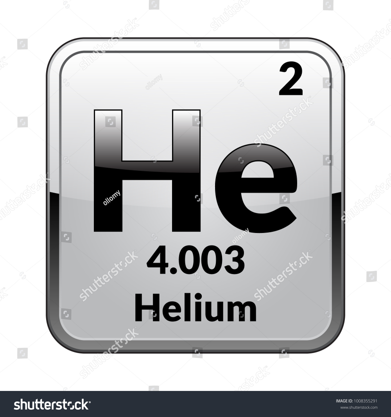 Helium Symbol Chemical Element Periodic Table On Stock Vector