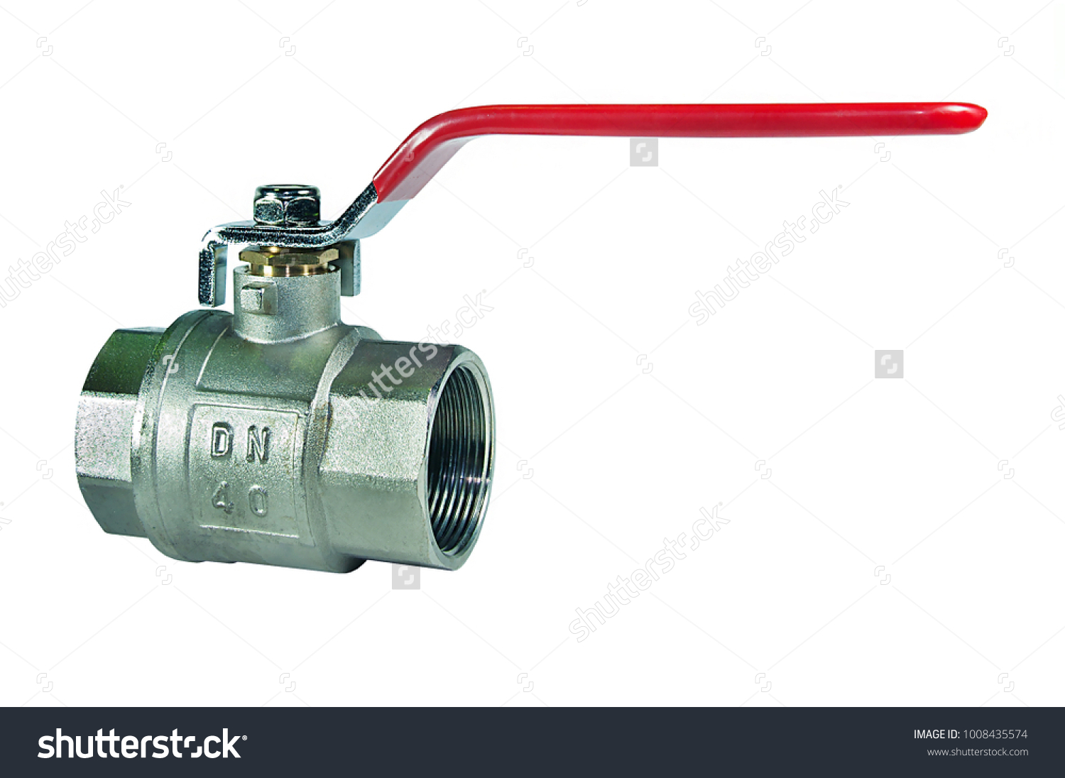 Industrial Stainless Steel Ball Valve Water Stock Photo (Royalty ...