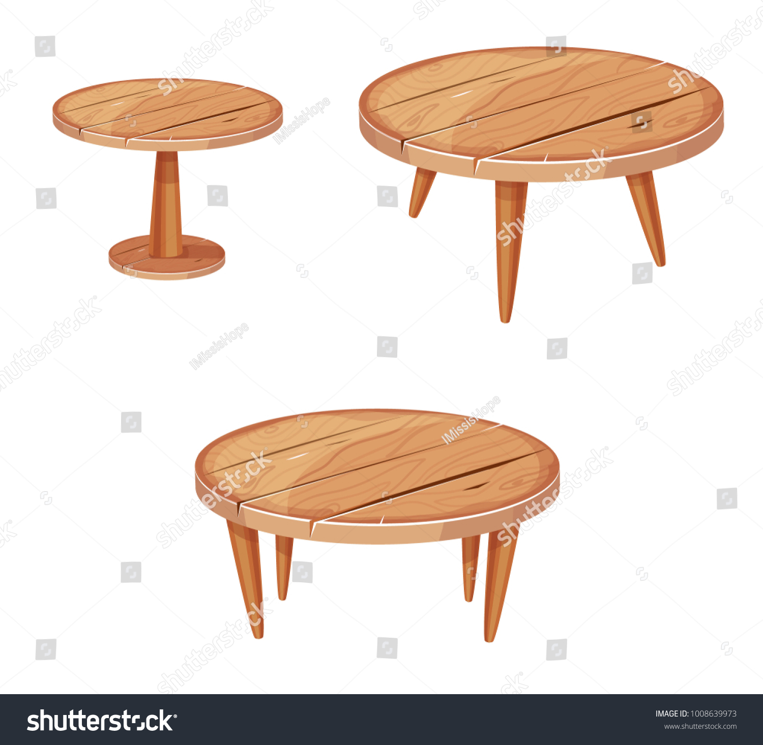 Picture of: Wooden Table Round Vector Clipart Stock Vector Royalty Free 1008639973