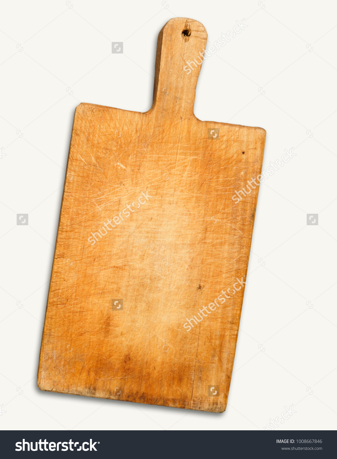 Rustic Wooden Cutting Board Isolated On Stock Photo Edit Now 1008667846