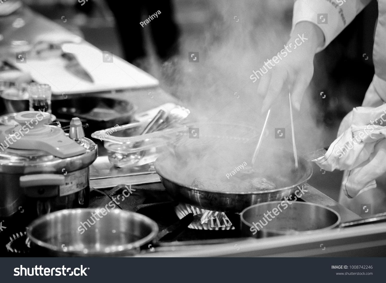 Chefs Work Kitchen Chef Preparing Food Stock Photo Edit Now 1008742246