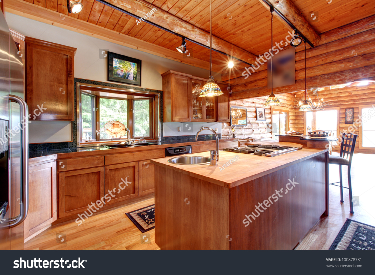 Stock Images Similar To ID 68532340 Log Cabin Dining Room And