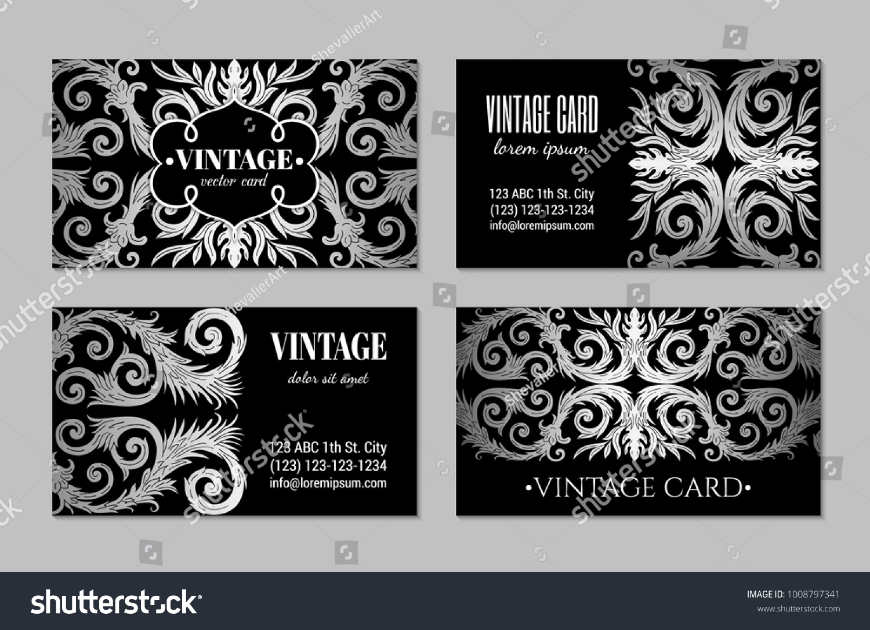 French baroque elegant ornate visiting cards stock vector 1008797341 french baroque elegant ornate visiting cards stock vector 1008797341 shutterstock reheart Gallery