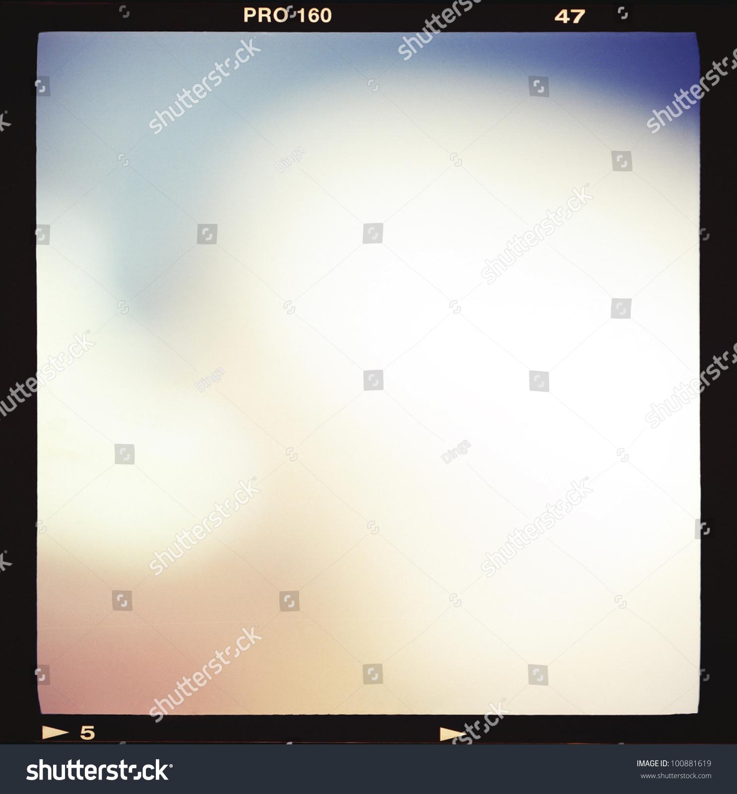 Blank Medium Format 6 X 6 Color Film Foto de stock (editar ahora ...