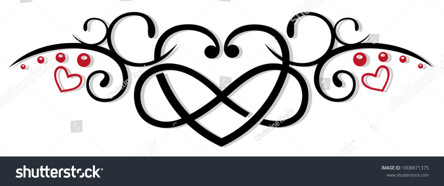 Heart Infinity Symbol Tribal Tattoo Style Stock Vector Royalty Free