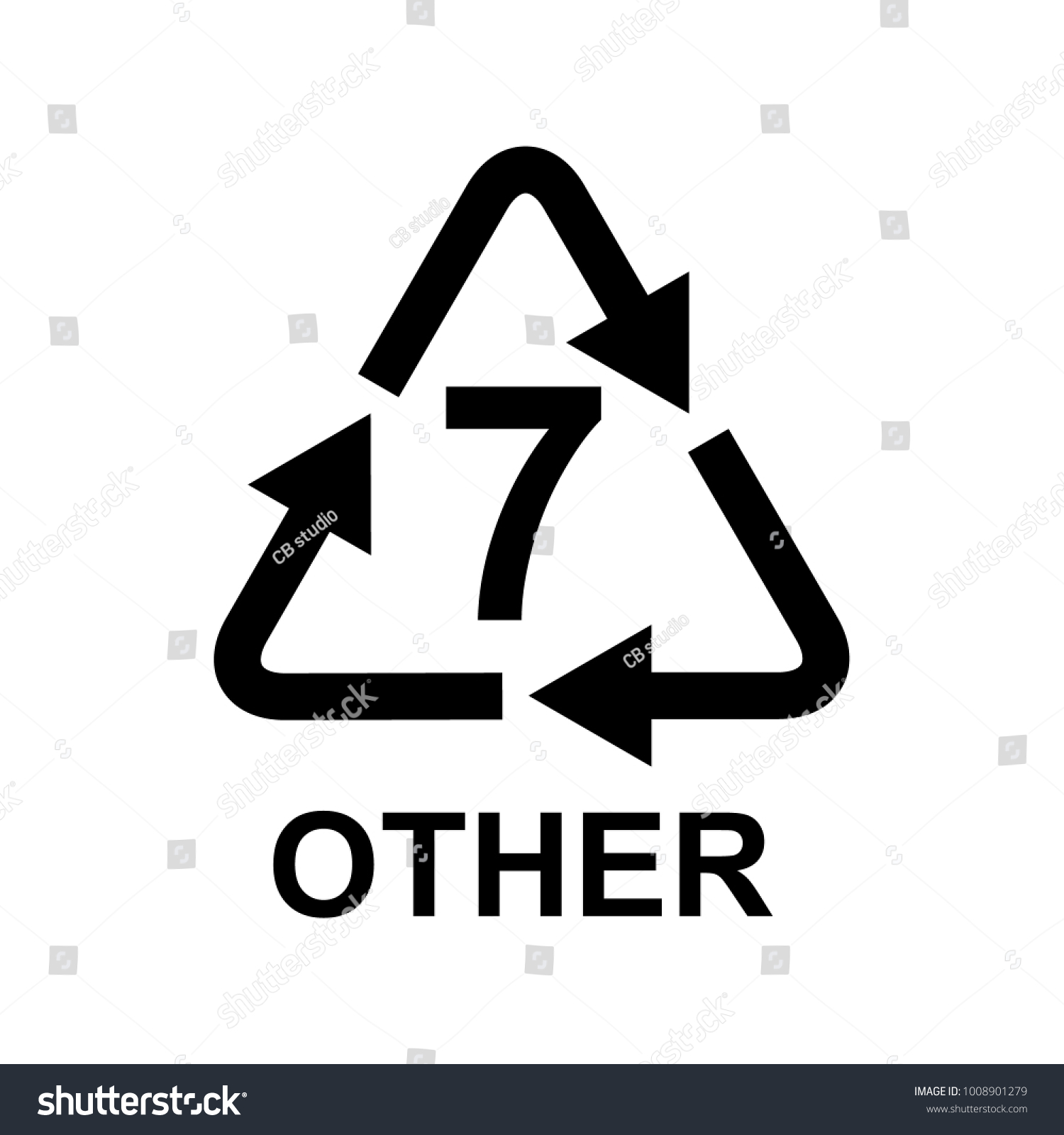 Plastic Recycling Symbol 7 Other Stock Vector Royalty Free