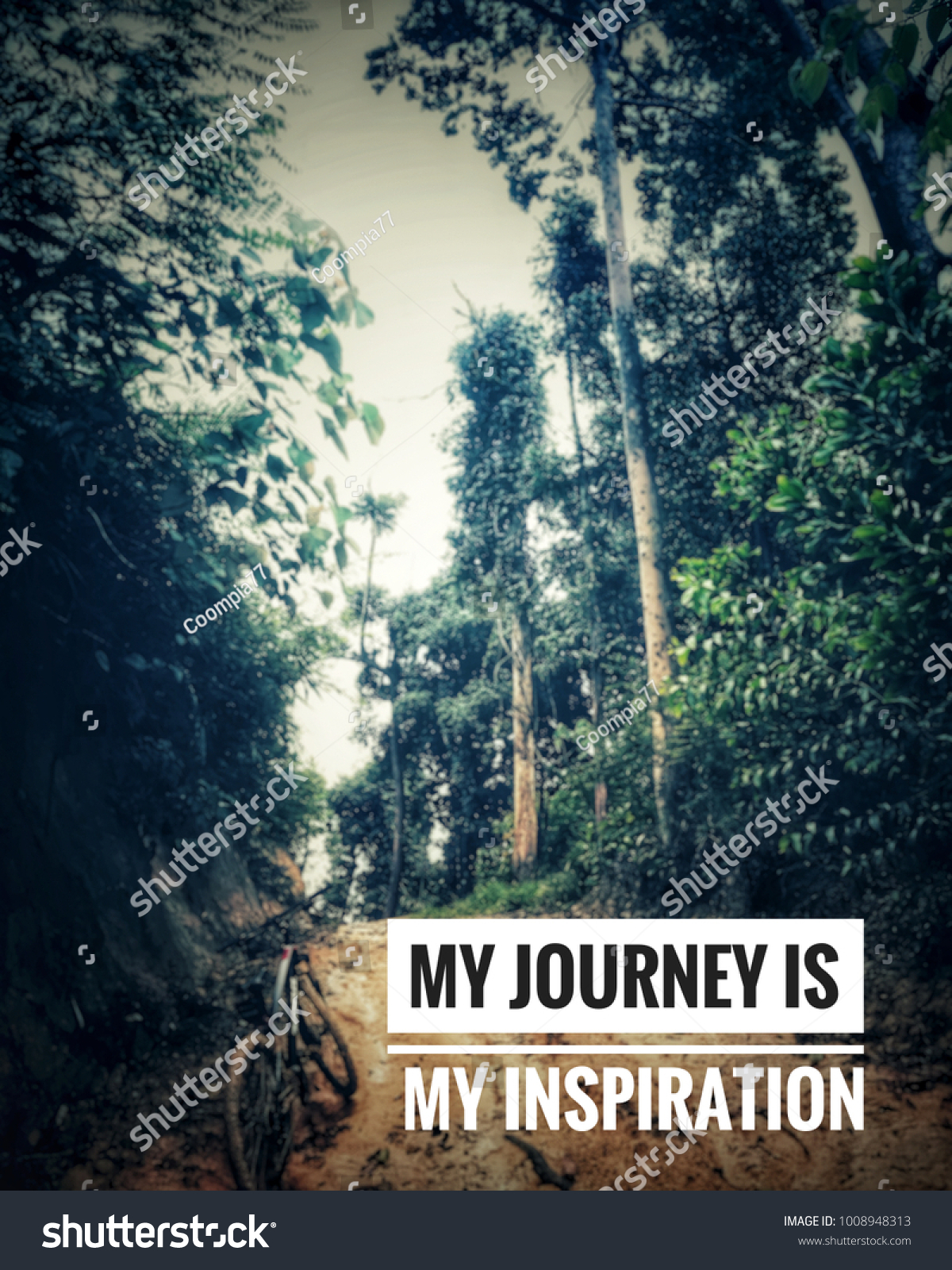 Motivational Inspirational Quotes My Journey My Stock Photo Edit
