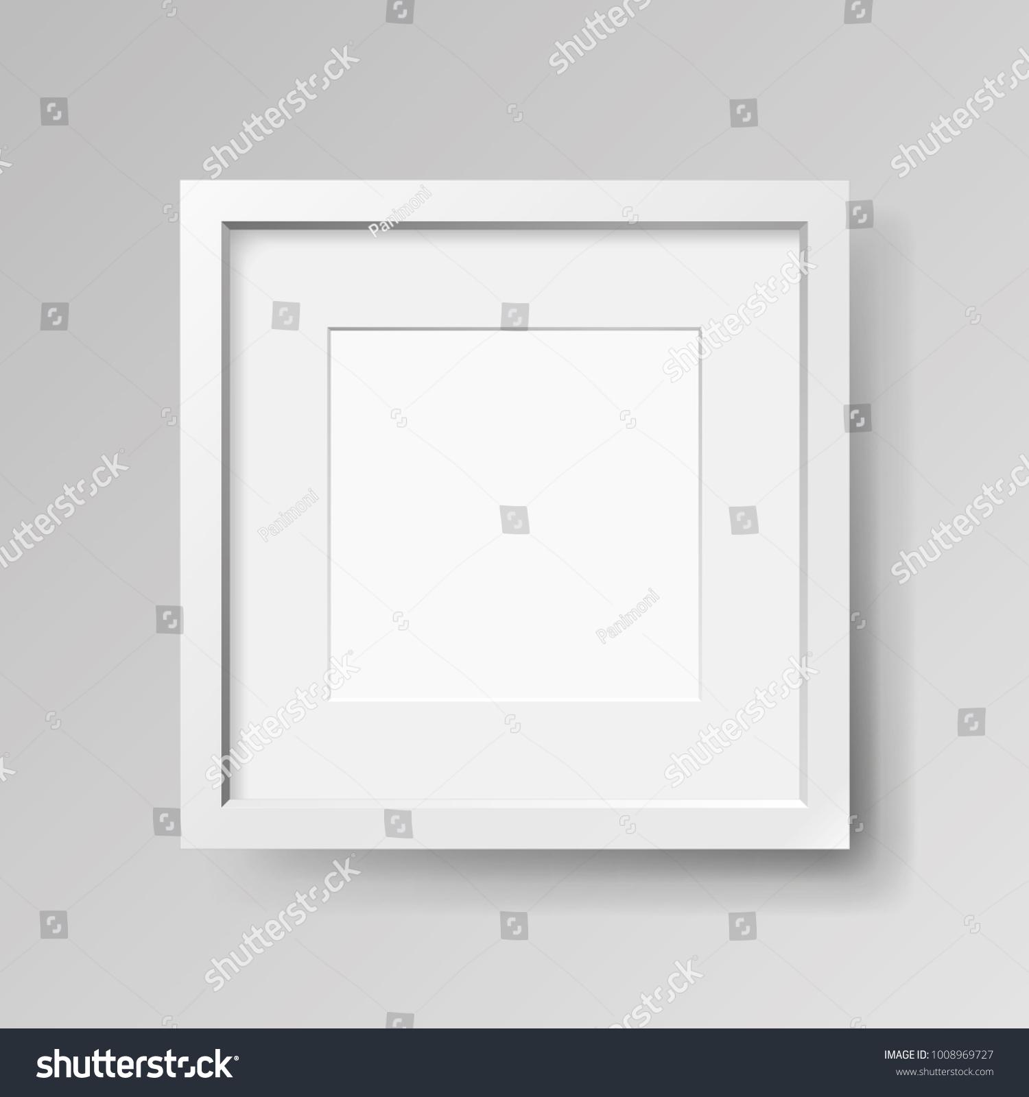 Realistic Empty White Frame Passepartout On Stock-Vektorgrafik ...