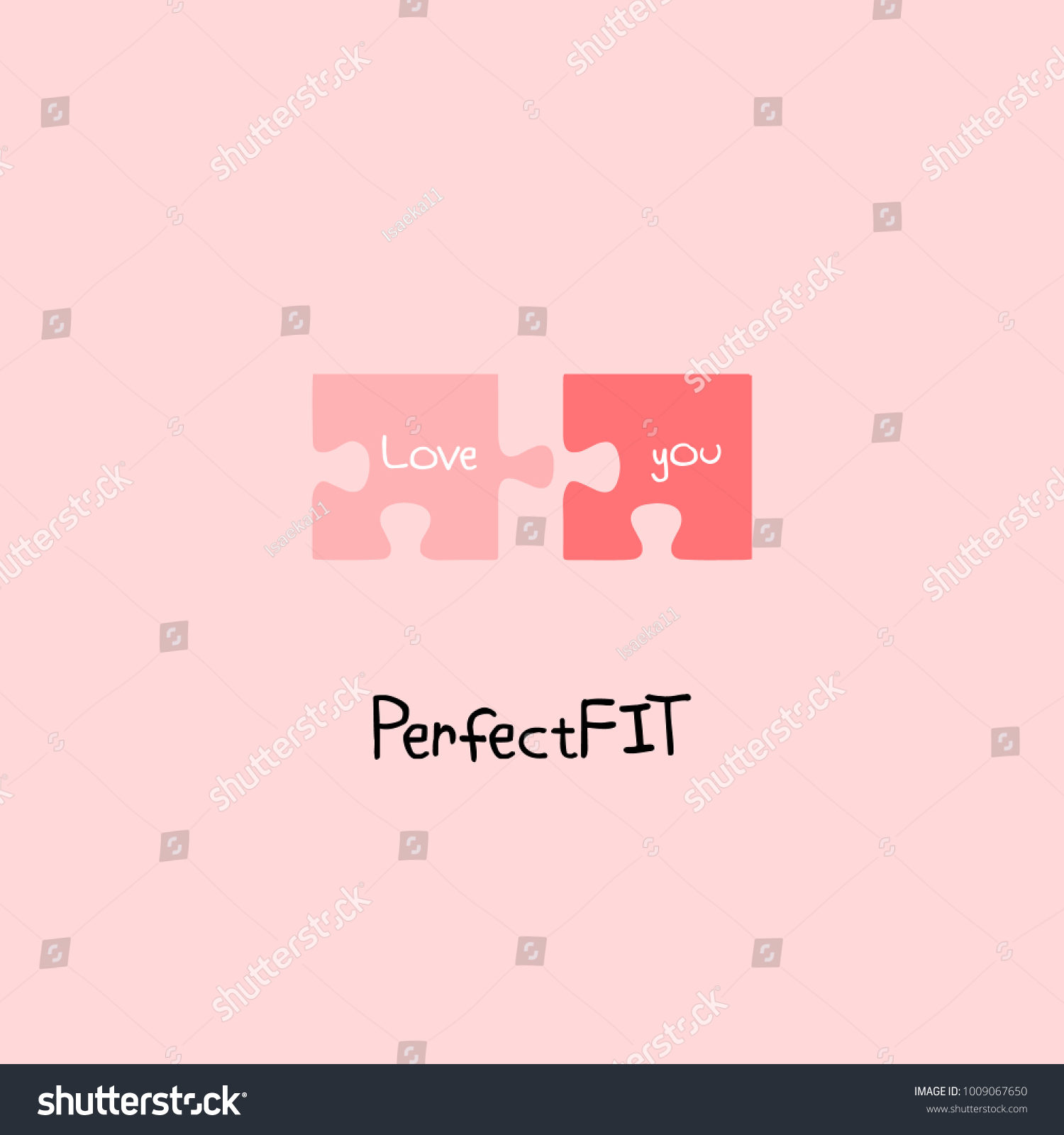 Perfect Fit Love You Letting On Stock Vector Royalty Free