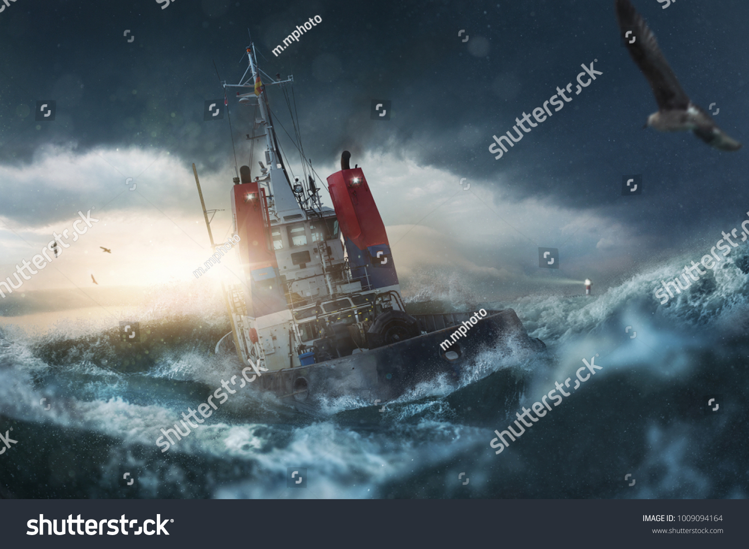 Ship goes by storm