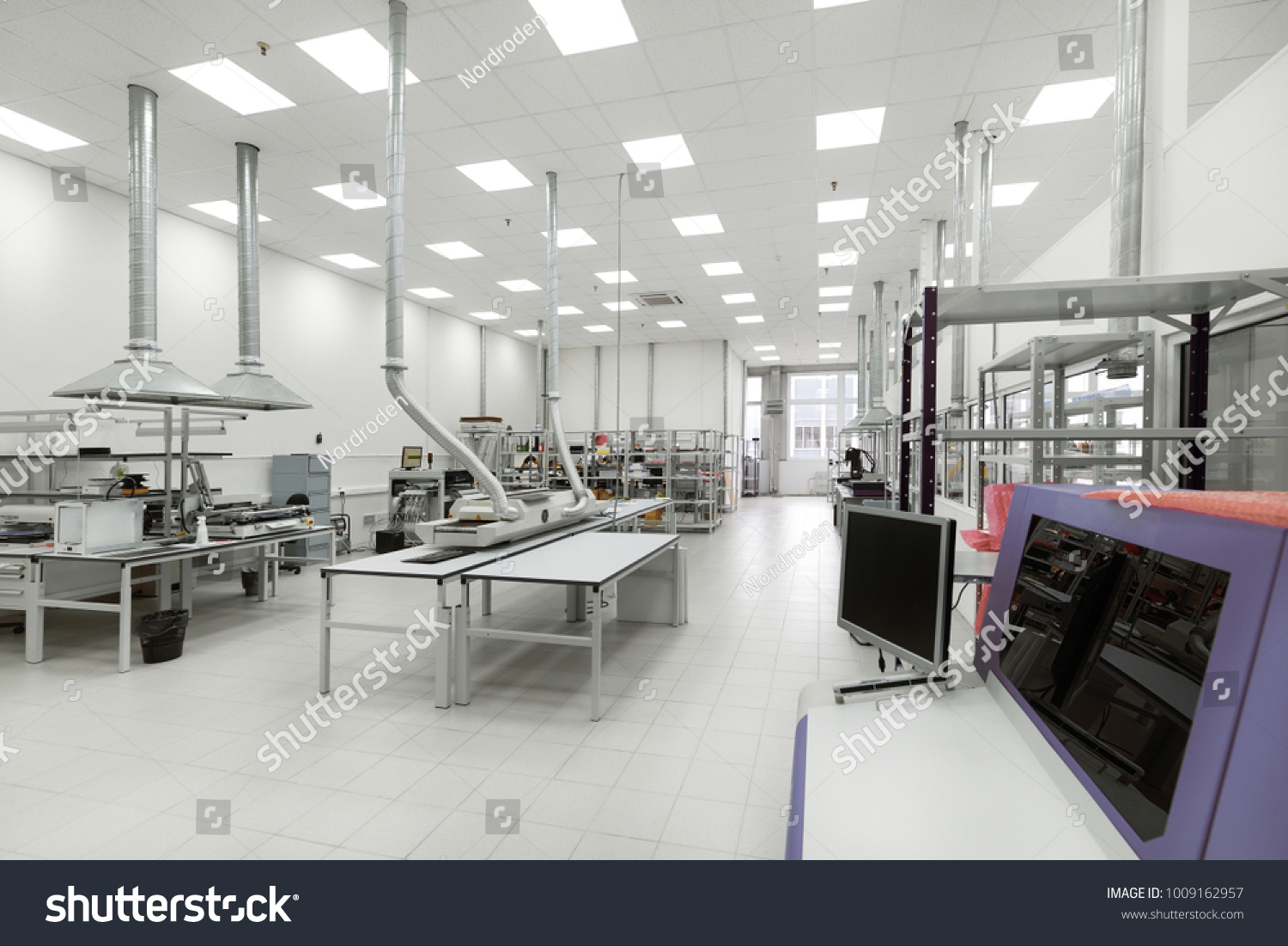 Factory Manufacture Electronic Printed Circuit Boards Stock Photo Board Fabrication And Assembly For The Of Workshop Surface Mounting Pre