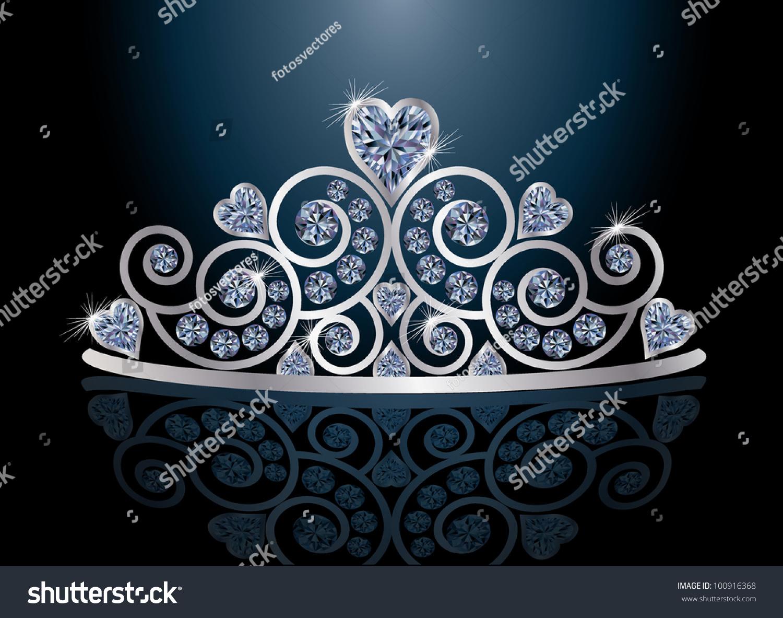 b7223292 Tiara Diadem Reflection Vector Illustration Stock Vector (Royalty ...