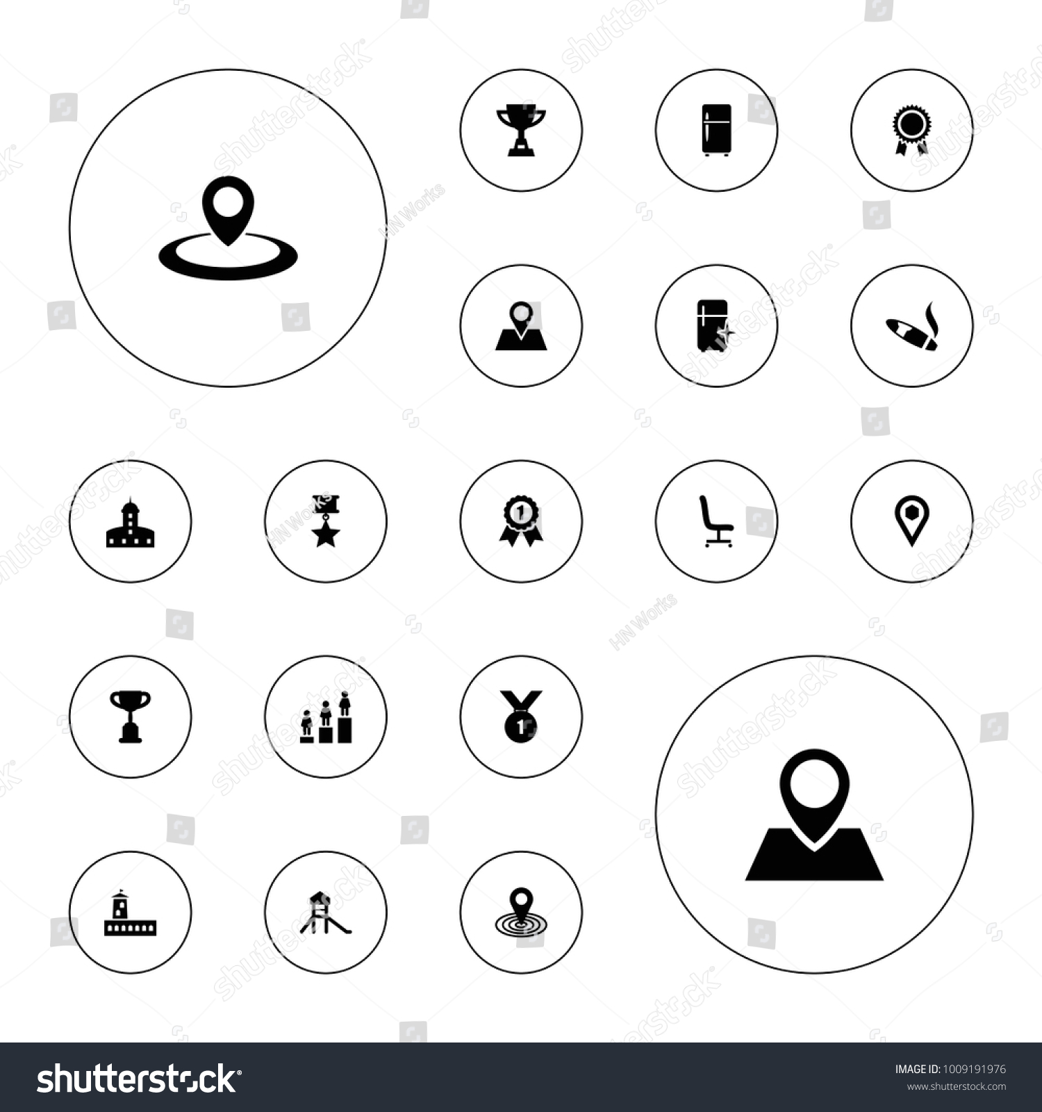 Editable vector place icons castle clean stock vector 1009191976 editable vector place icons castle clean fridge ranking map location trophy biocorpaavc Image collections