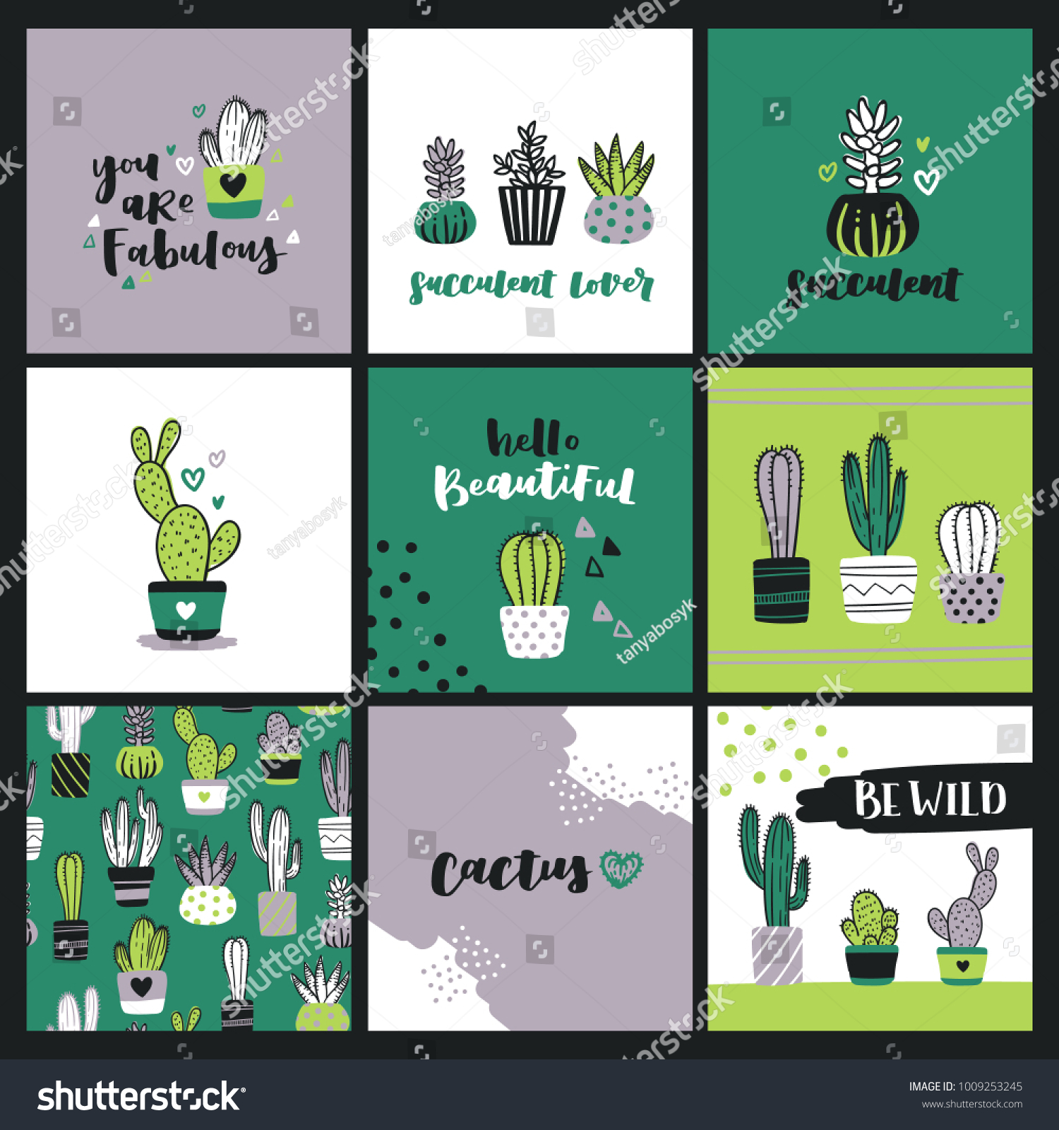 Set cute cactus lover greeting cards stock vector 1009253245 set cute cactus lover greeting cards stock vector 1009253245 shutterstock m4hsunfo