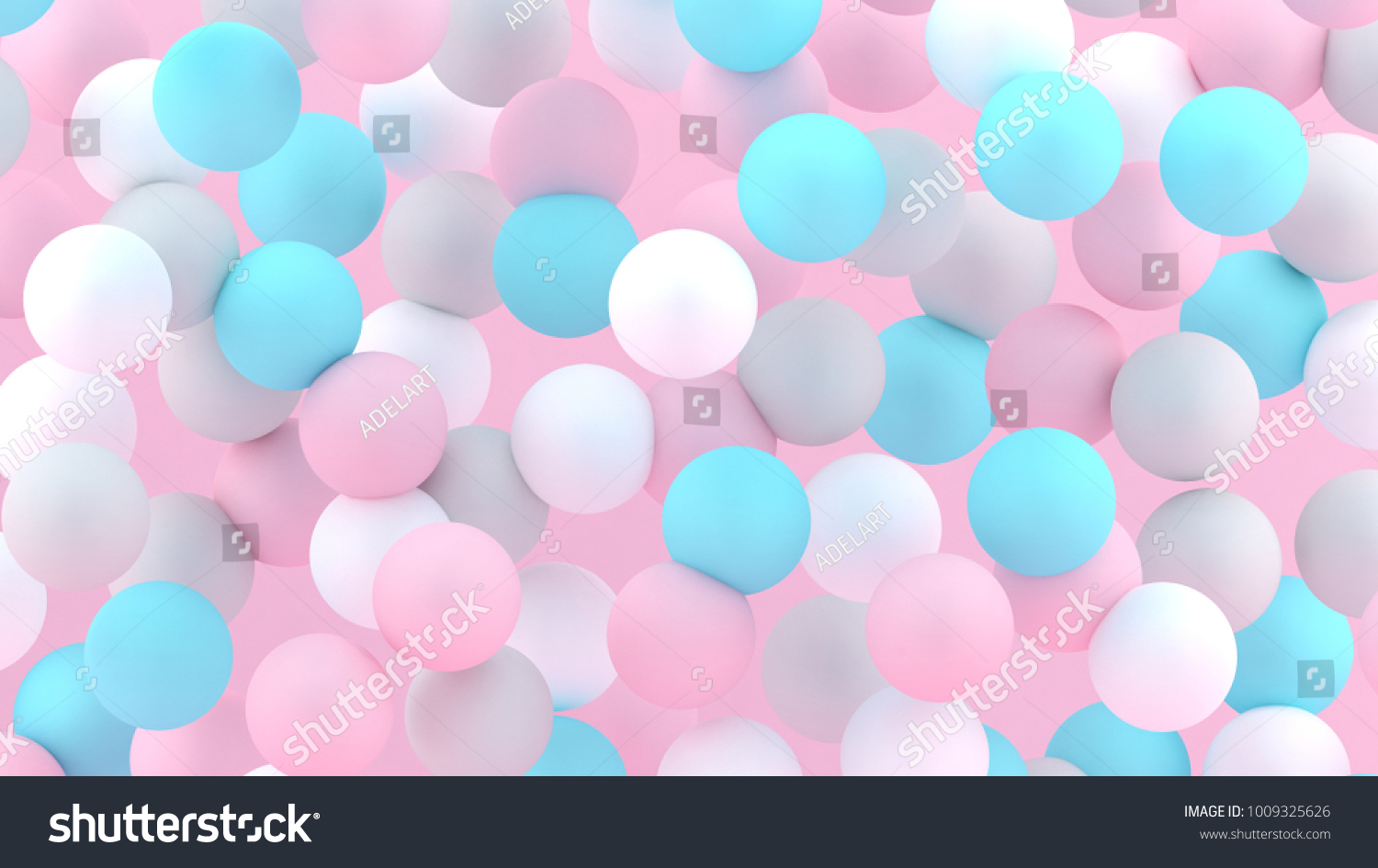 3d Bubbles Spheres Background Abstract Wallpaper Flying Geometric Shapes Trendy Modern Illustration