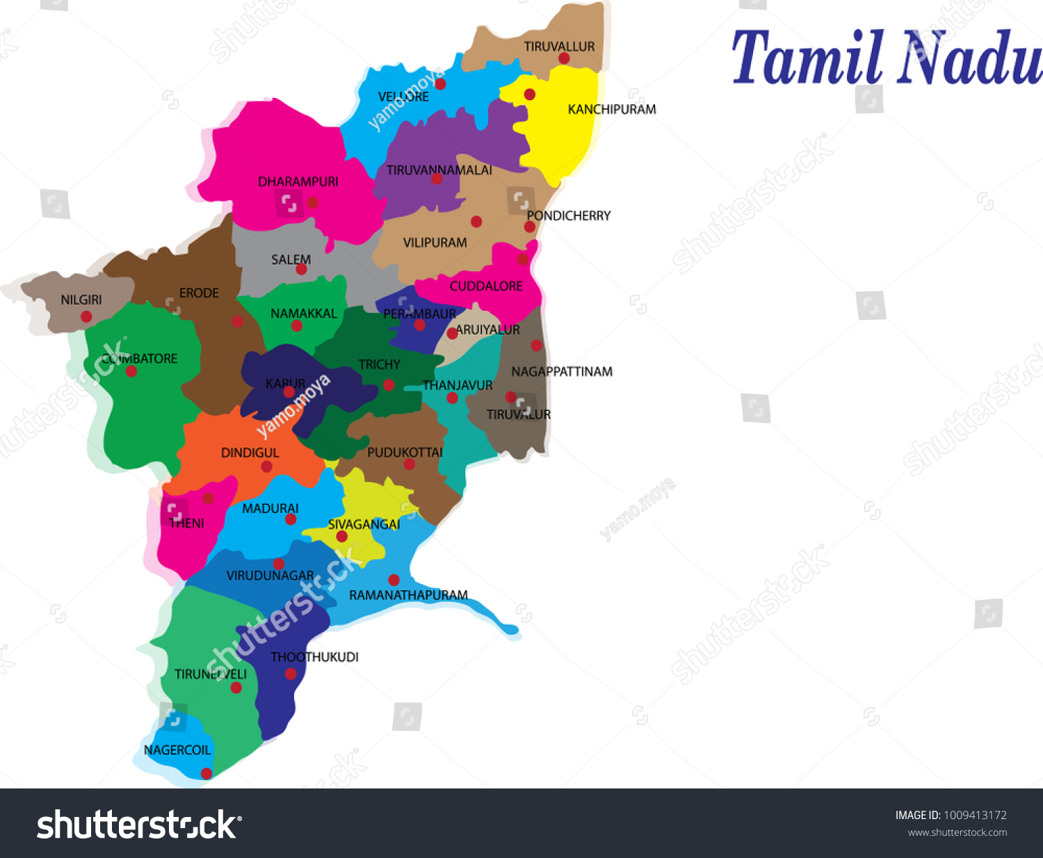 Tamil nadu districts vector map silhouette stock vector 1009413172 tamil nadu districts vector map silhouette illustration isolated on india map gumiabroncs Image collections