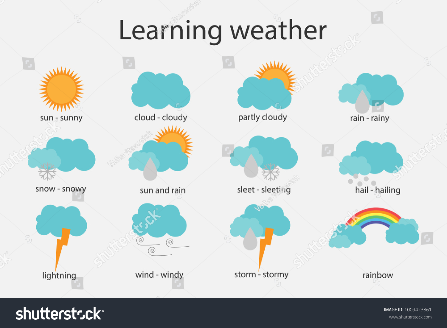 Learning Weather Children Fun Education Game Stock Vector (Royalty ...