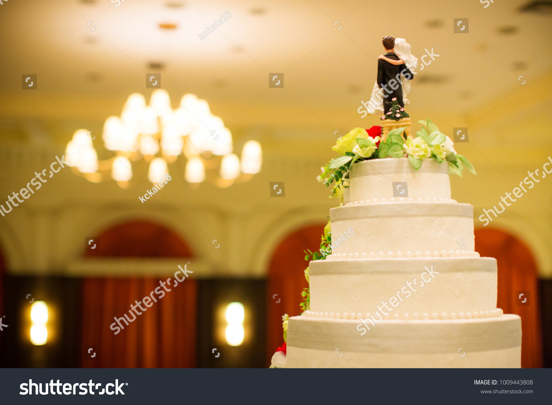 Figurines Bride Groom On Wedding Cake Funny Stock Photo (Edit Now ...