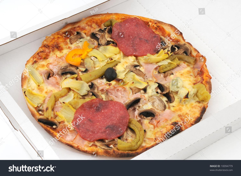 pizza quattro stagioni stock photo 10094779 shutterstock. Black Bedroom Furniture Sets. Home Design Ideas