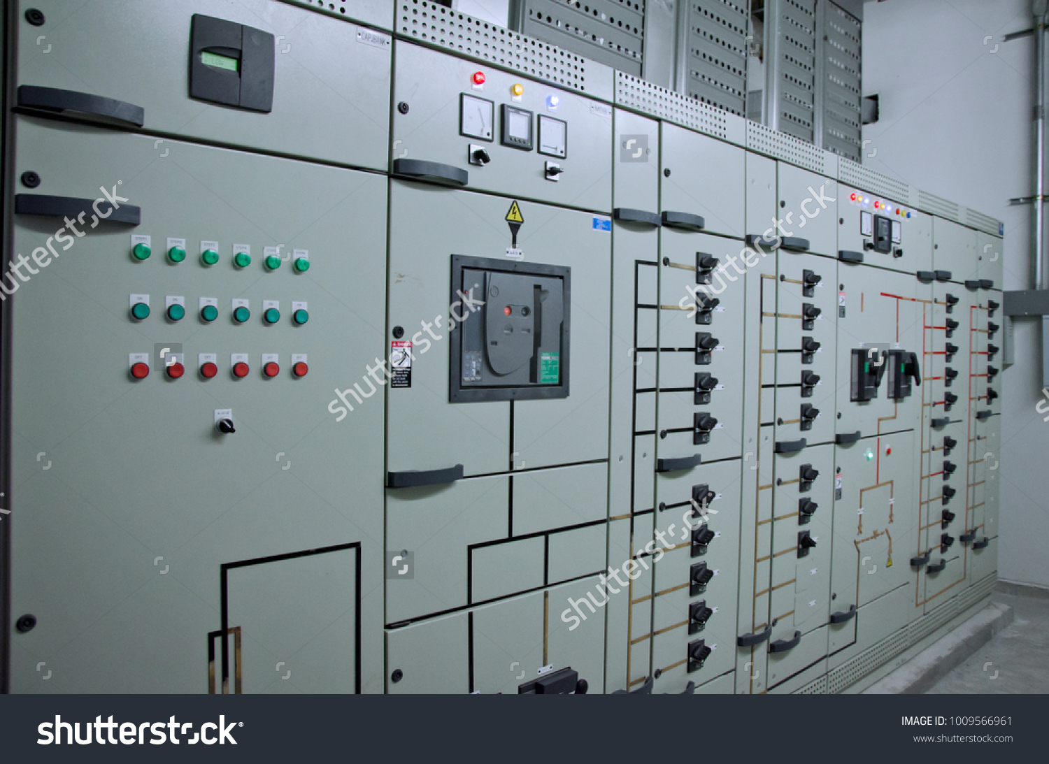 Side Views Power Electric Main Distribution Stock Photo (Royalty ...