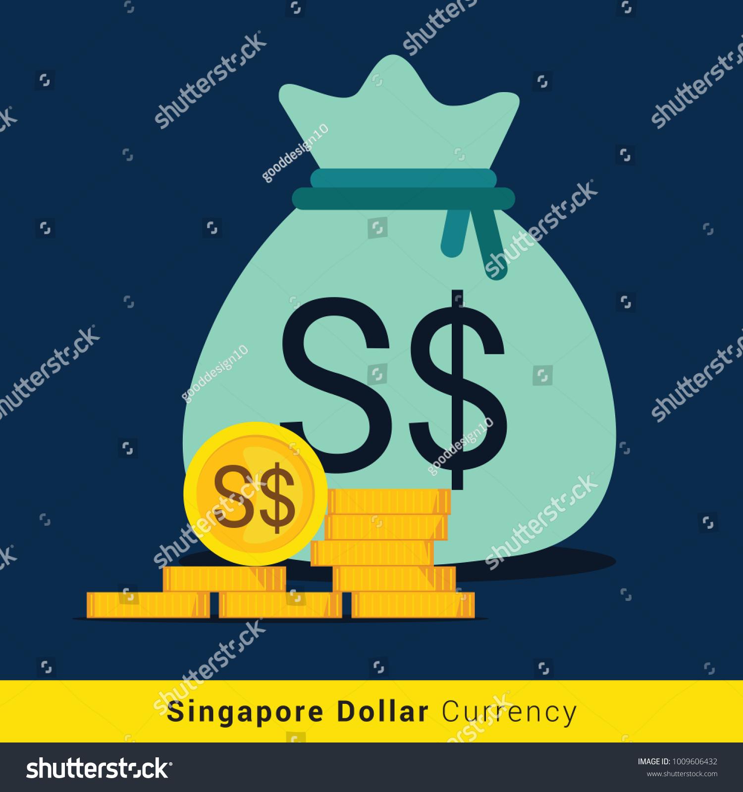 Singapore dollar money bag icon sign stock vector 1009606432 singapore dollar money bag icon with sign biocorpaavc