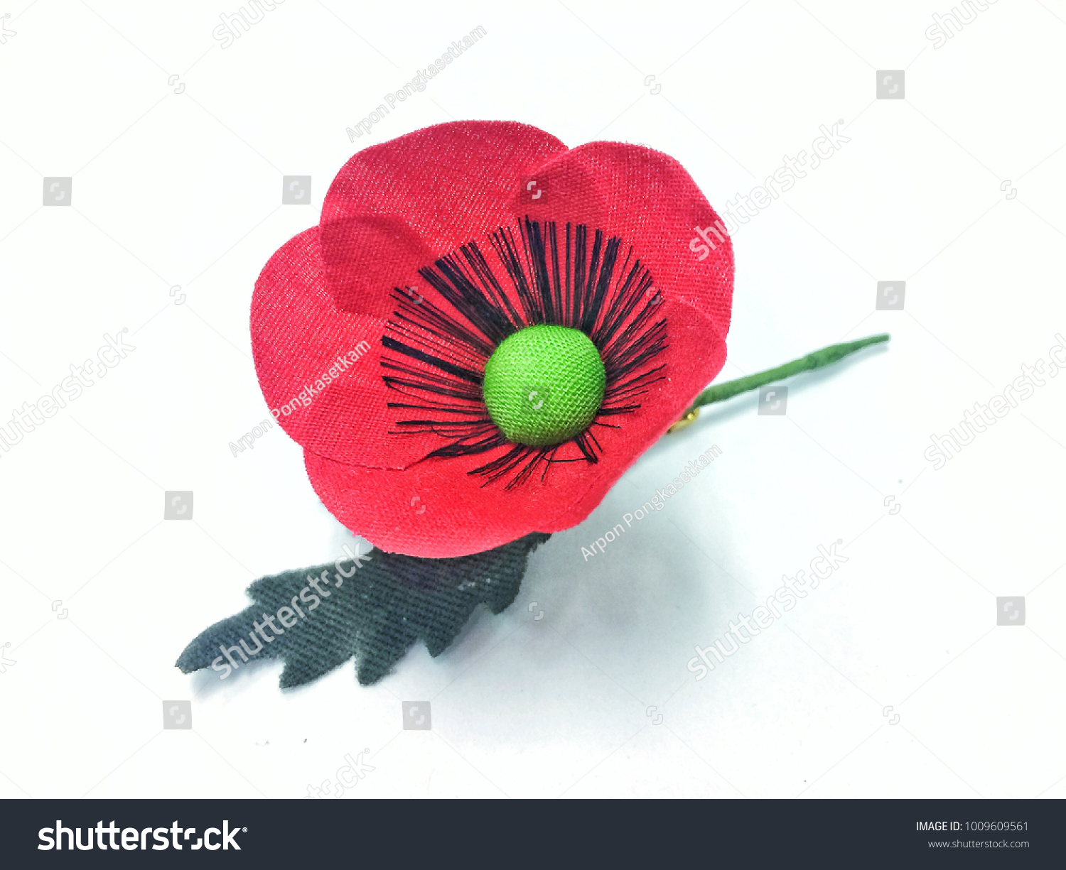 Red Poppy Flower Thai Veterans Day Stock Photo Edit Now 1009609561