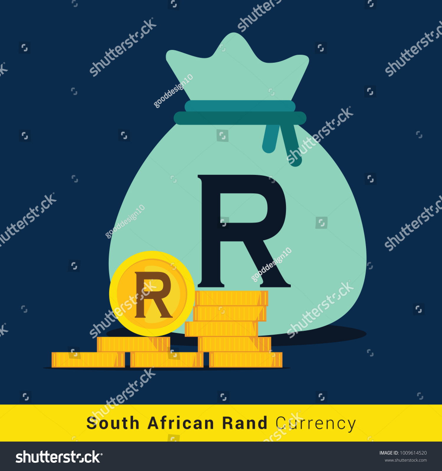 South african rand money bag icon stock vector 1009614520 south african rand money bag icon with sign buycottarizona