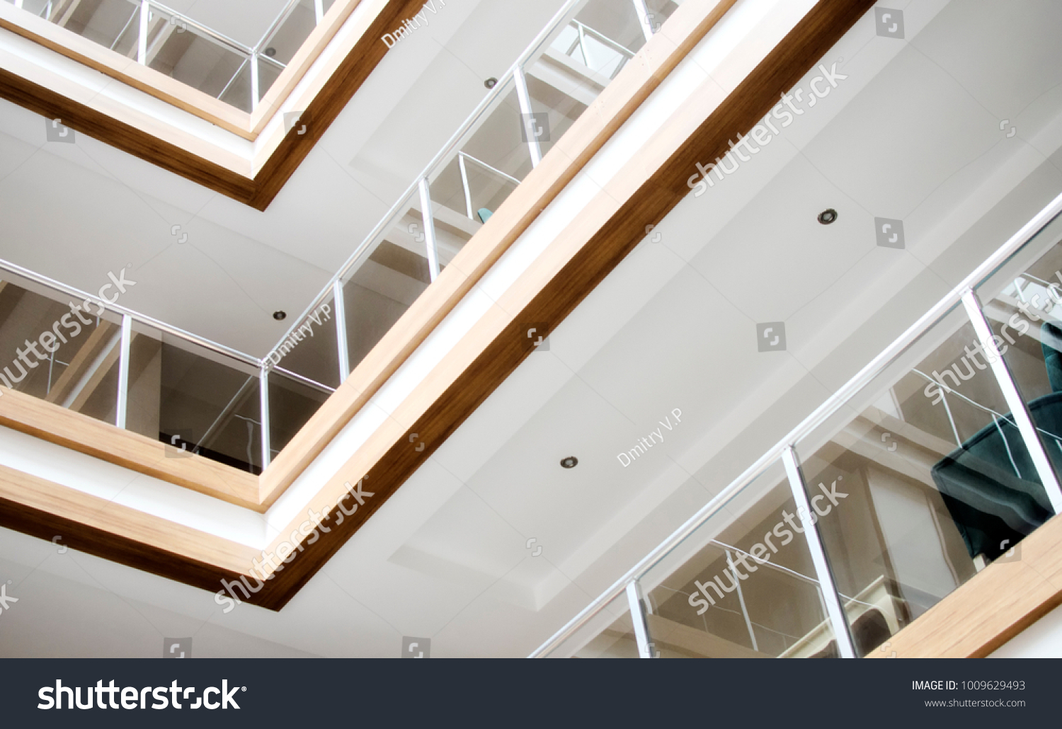 Details Interior Modern Hotel Roof Inside Stock Photo Edit Now 1009629493