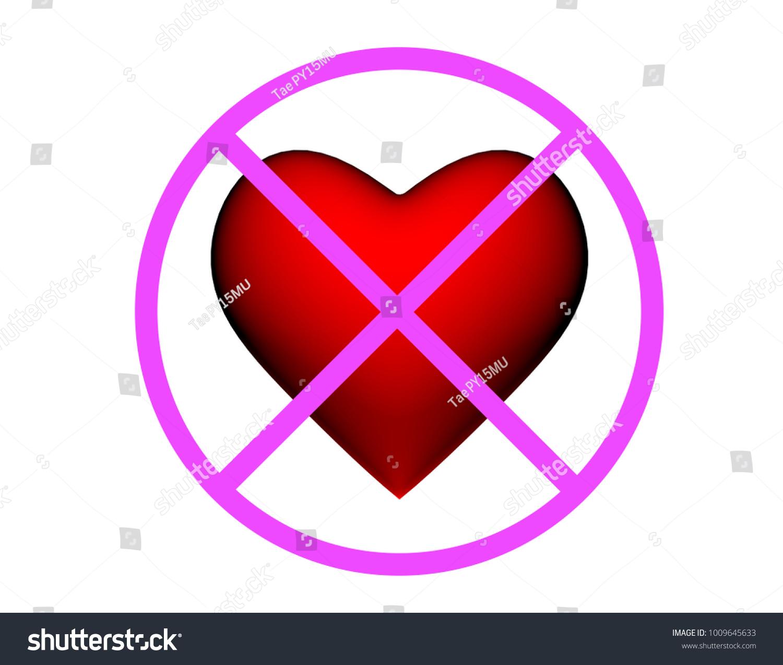 3 Dimension Heart Symbol Pink Flat Stock Illustration 1009645633