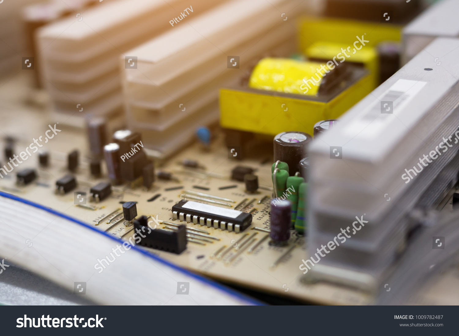 Macro Close Electronic Circuit Board Television Lcd Stock Photo Integrated Circuits Used As Background Royalty Free Photos Macroclose Up Of